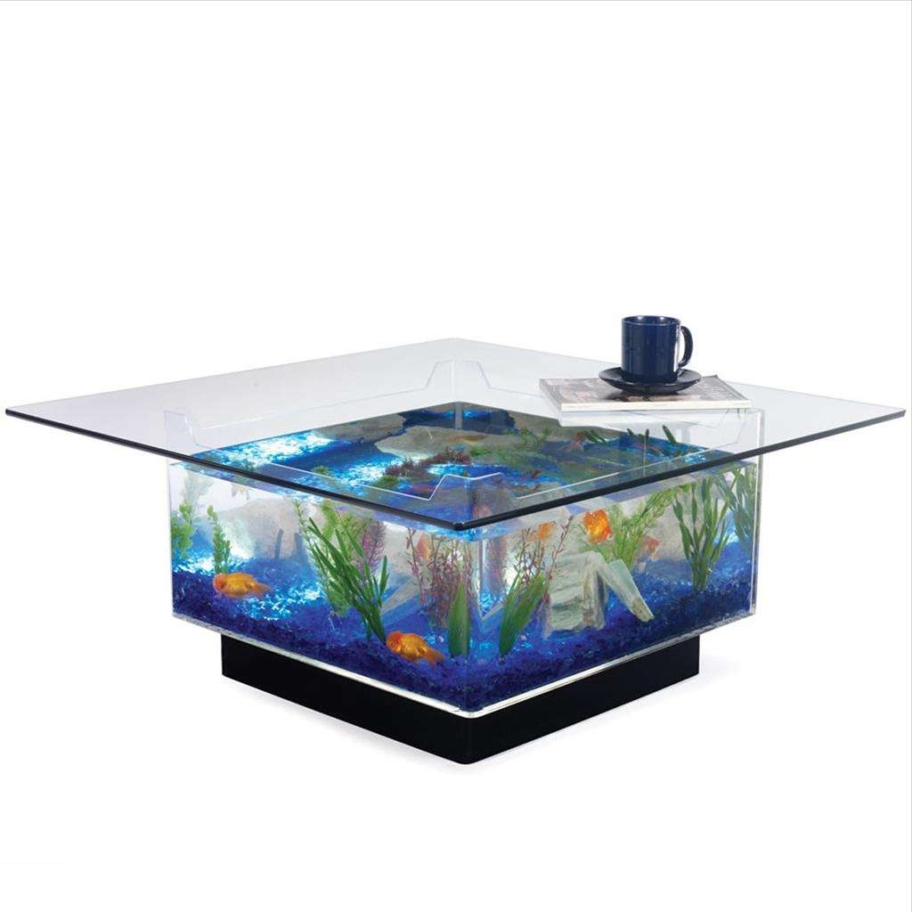 Well Known Thick Glass Coffee Table With Regard To Astonishing Coffee Table Tropical Fish Tank Aquarium Idea Hd (View 20 of 20)