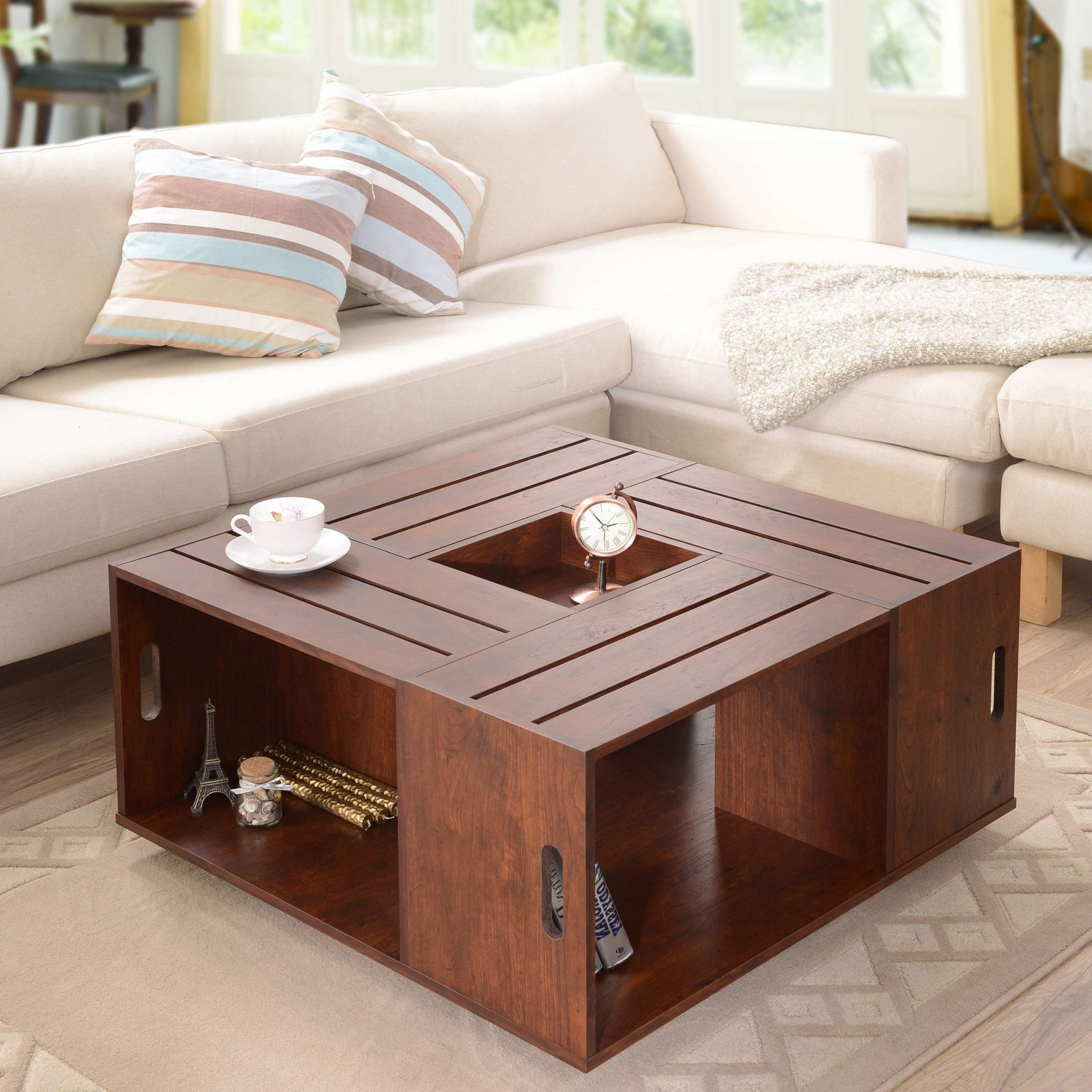 Well Known Unique Coffee Tables Pertaining To Furniture : Ultra Modern Glossy Black Acrylic Lucite Coffee Table (View 20 of 20)