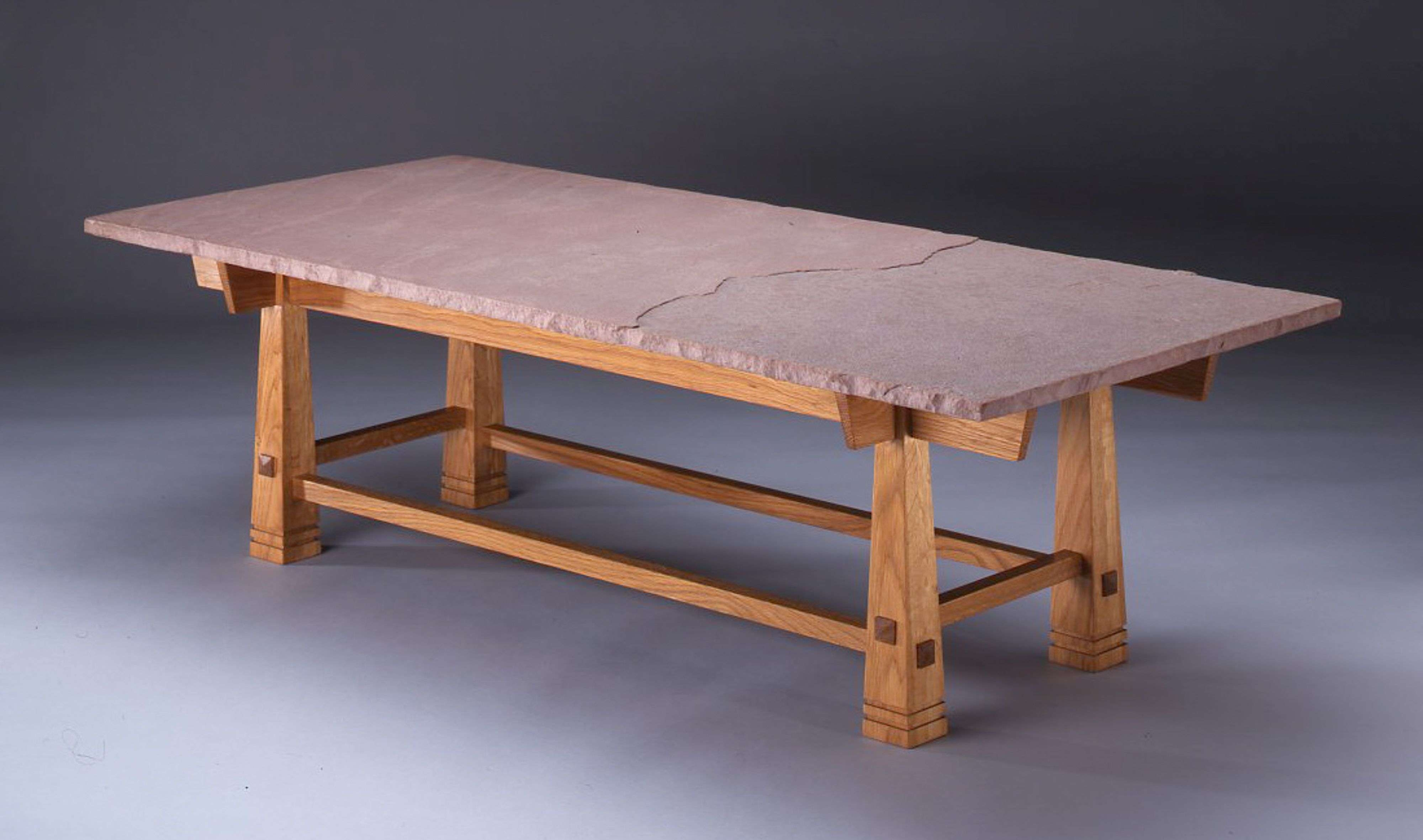 Well Known White And Oak Coffee Tables In Custom White Oak Coffee Table With Sandstone Toppeter Glass (View 19 of 20)