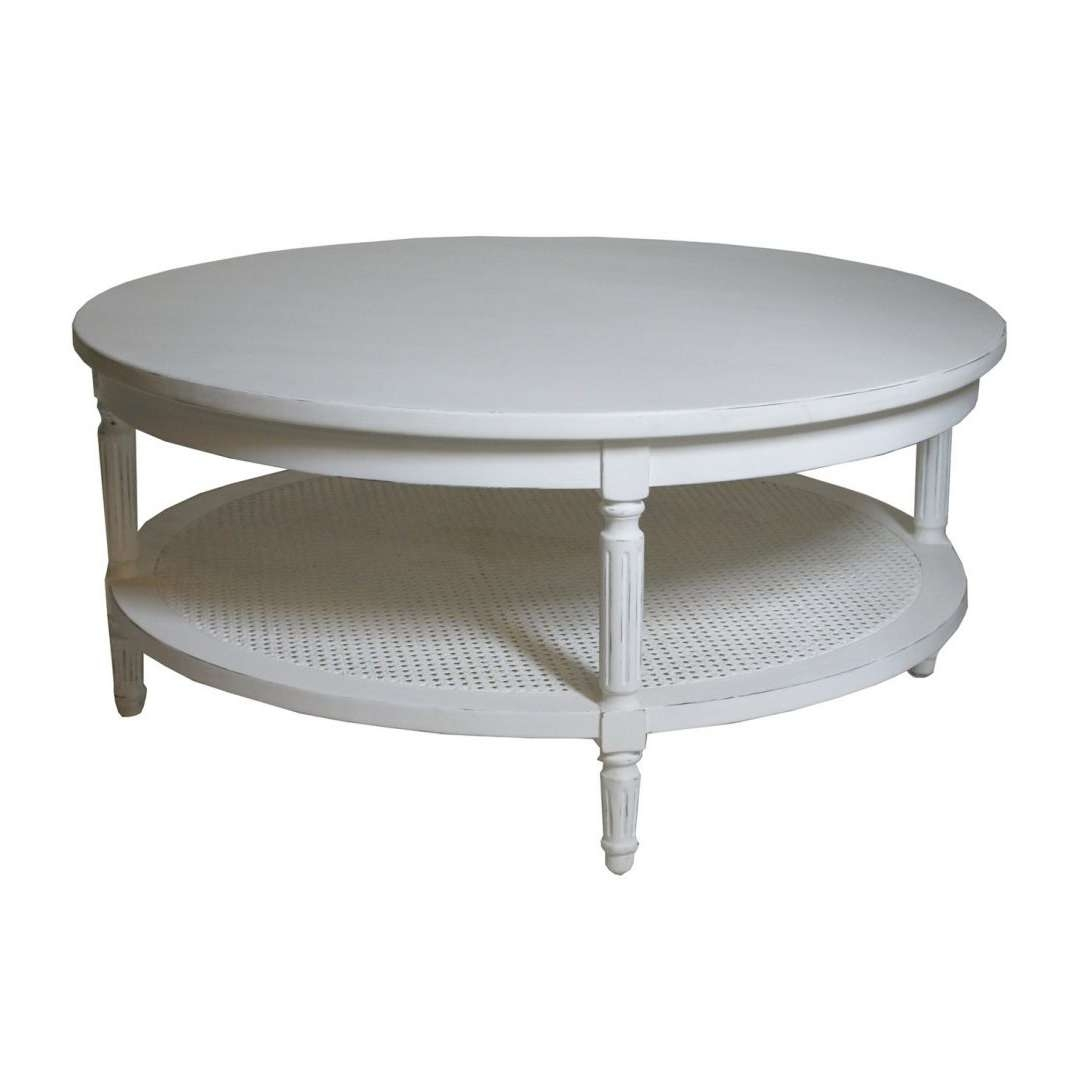 Well Known White Cottage Style Coffee Tables Intended For White Round Coffee Table Empire Legs For Sale Tables On Cottage (View 4 of 20)