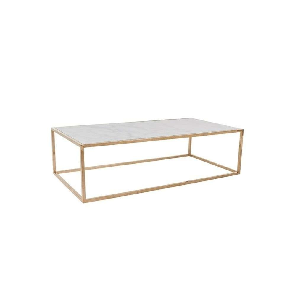 Well Known White Cube Coffee Tables With Regard To Elle Cube Coffee Table White Marble & Rose Brass (View 15 of 20)
