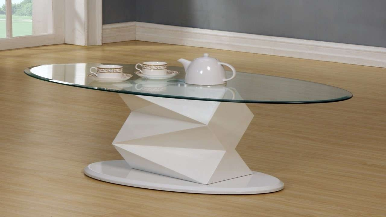 Well Known White High Gloss Coffee Tables Within White High Gloss Glass Coffee, Side, Console Table – Homegenies (View 11 of 20)