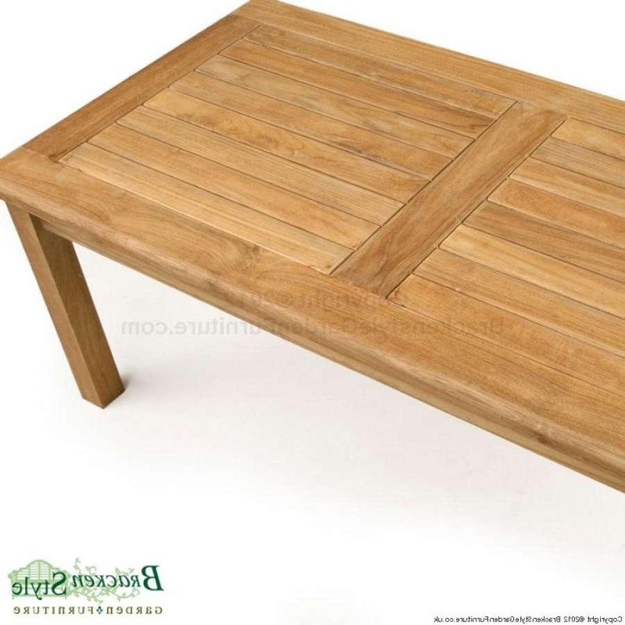 Well Known Wooden Garden Coffee Tables Regarding Rectangular Teak Garden Coffee Table (View 20 of 20)