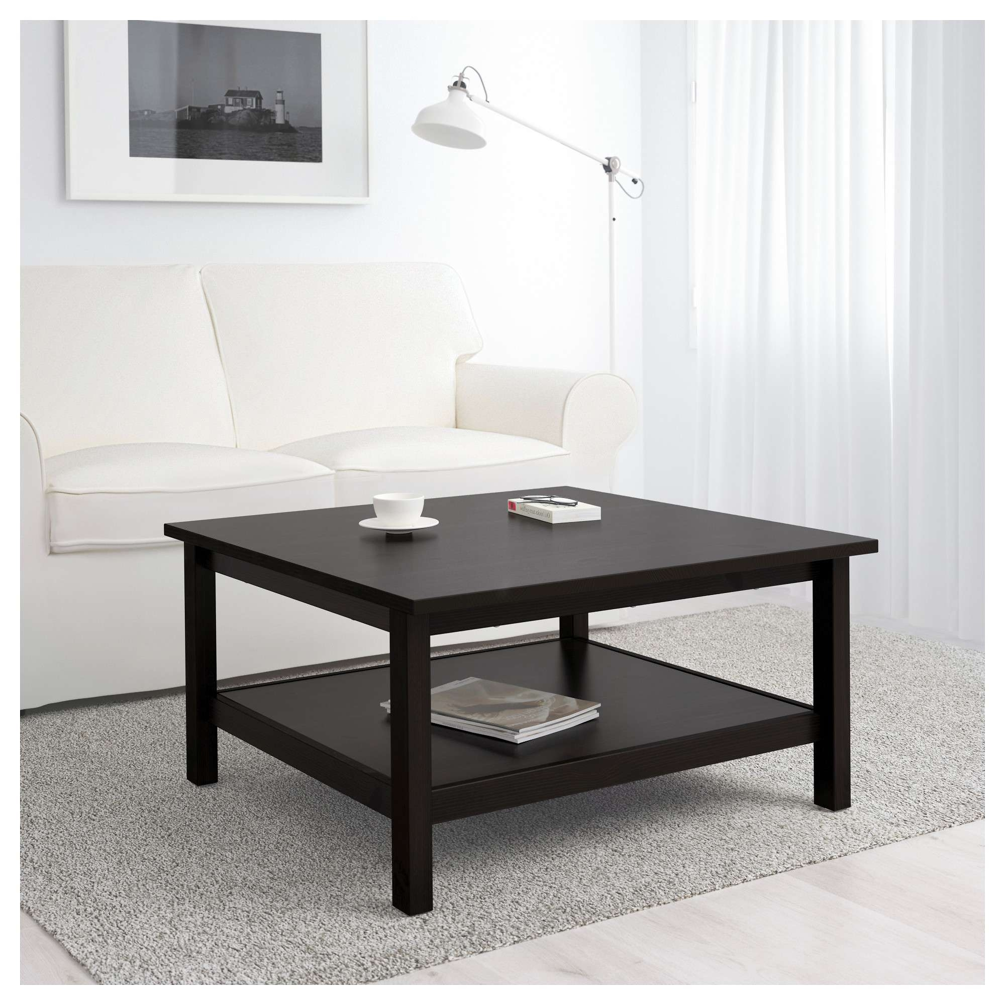 Well Liked Black Wood Coffee Tables Intended For Hemnes Coffee Table – Black Brown – Ikea (View 18 of 20)