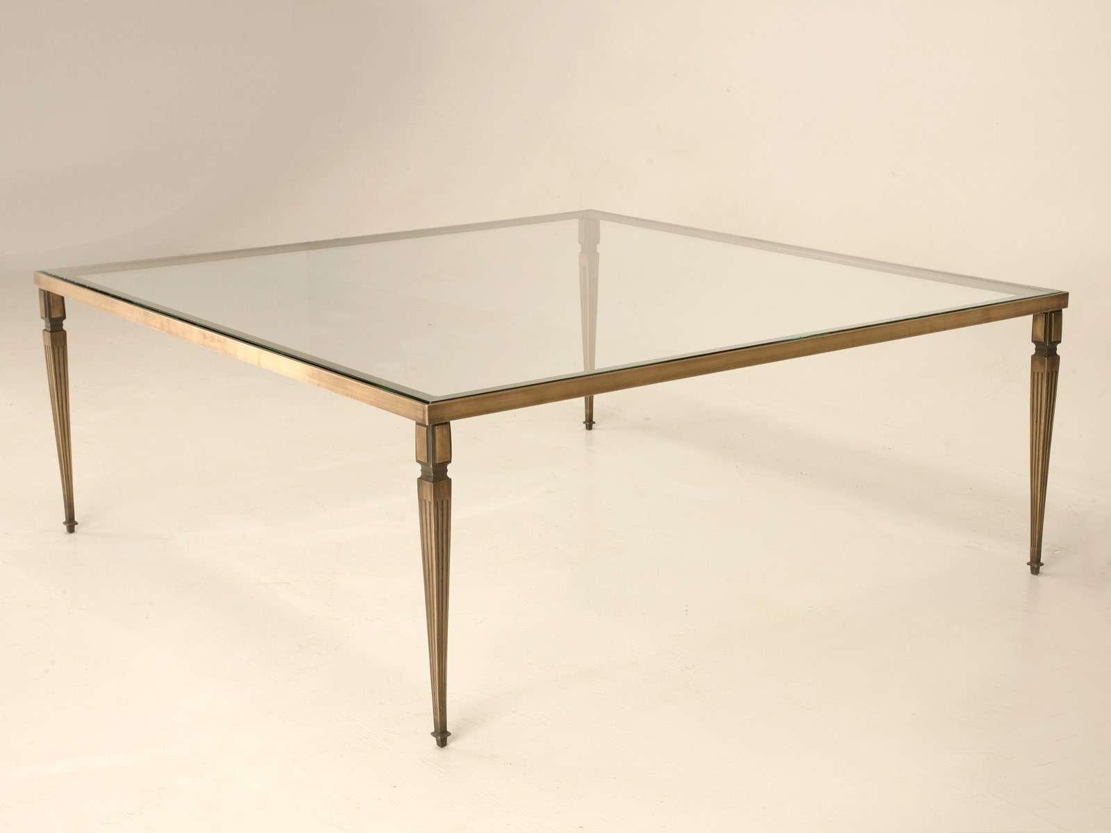 Well Liked Bronze Coffee Table Glass Top Inside Golden Square Antique Bronze Coffee Table Bases Designs Ideas With (View 4 of 20)