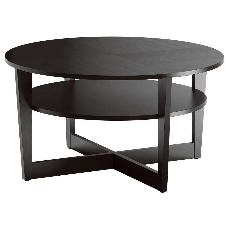 Well Liked Circle Coffee Tables With Regard To Coffee Tables : Beautiful Dark Brown Modern Wood Circle Coffee (View 20 of 20)