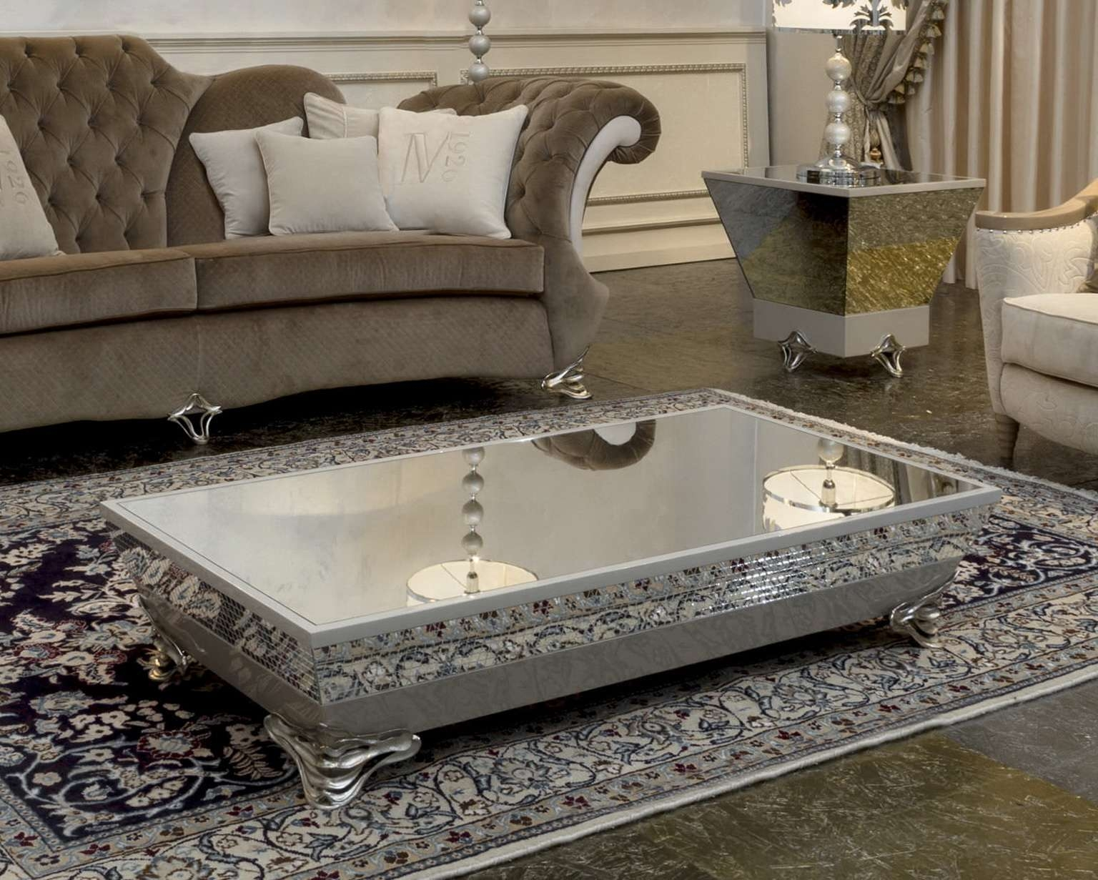 Well Liked Coffee Tables Mirrored For Mirror Coffee Table Ideas Luxury Sofa Photography A Mirror Coffee (View 20 of 20)
