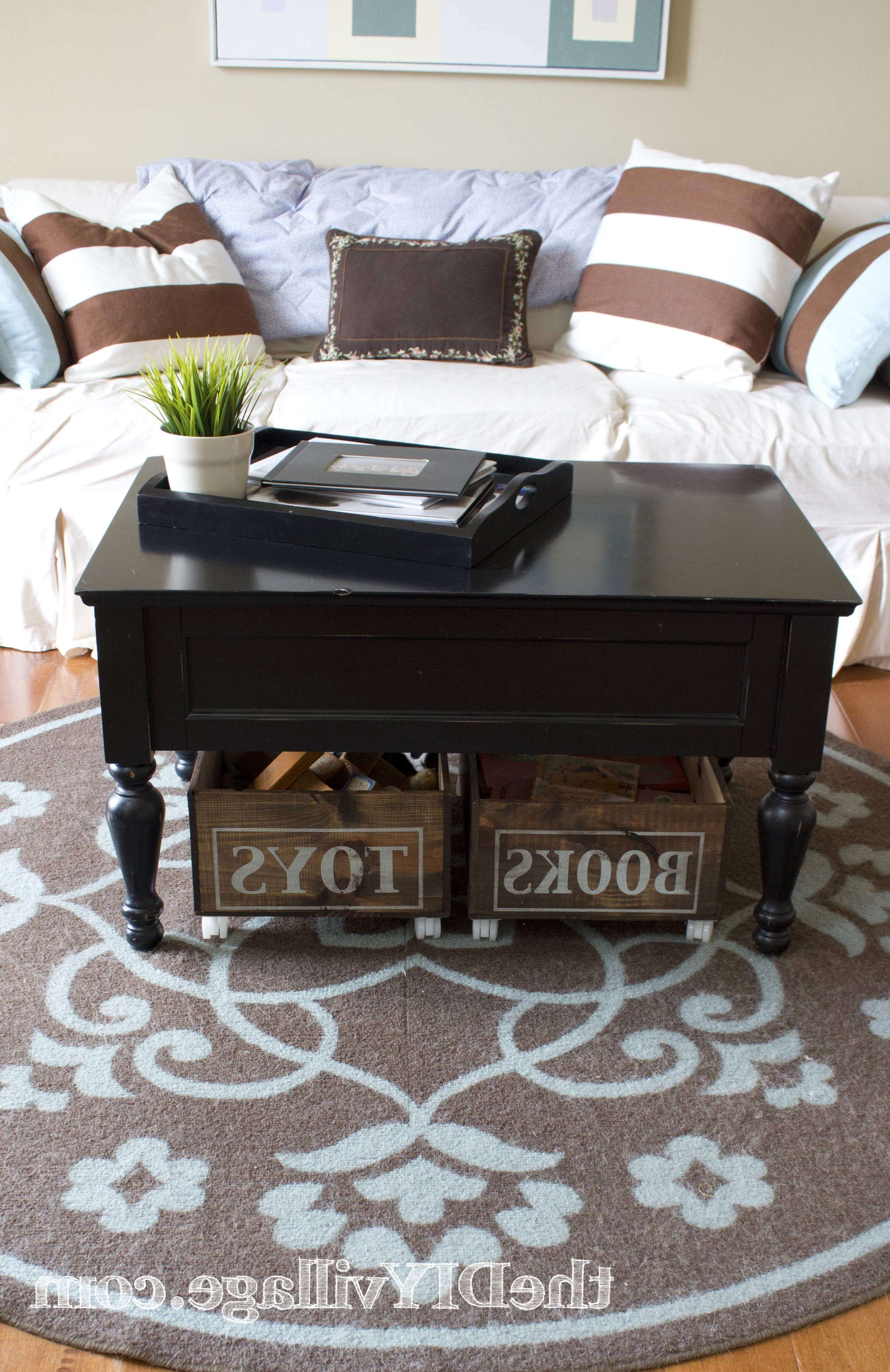Well Liked Coffee Tables With Basket Storage Underneath In Coffee Table : Under Coffee Table Storage Baskets For Tableunder (View 5 of 20)