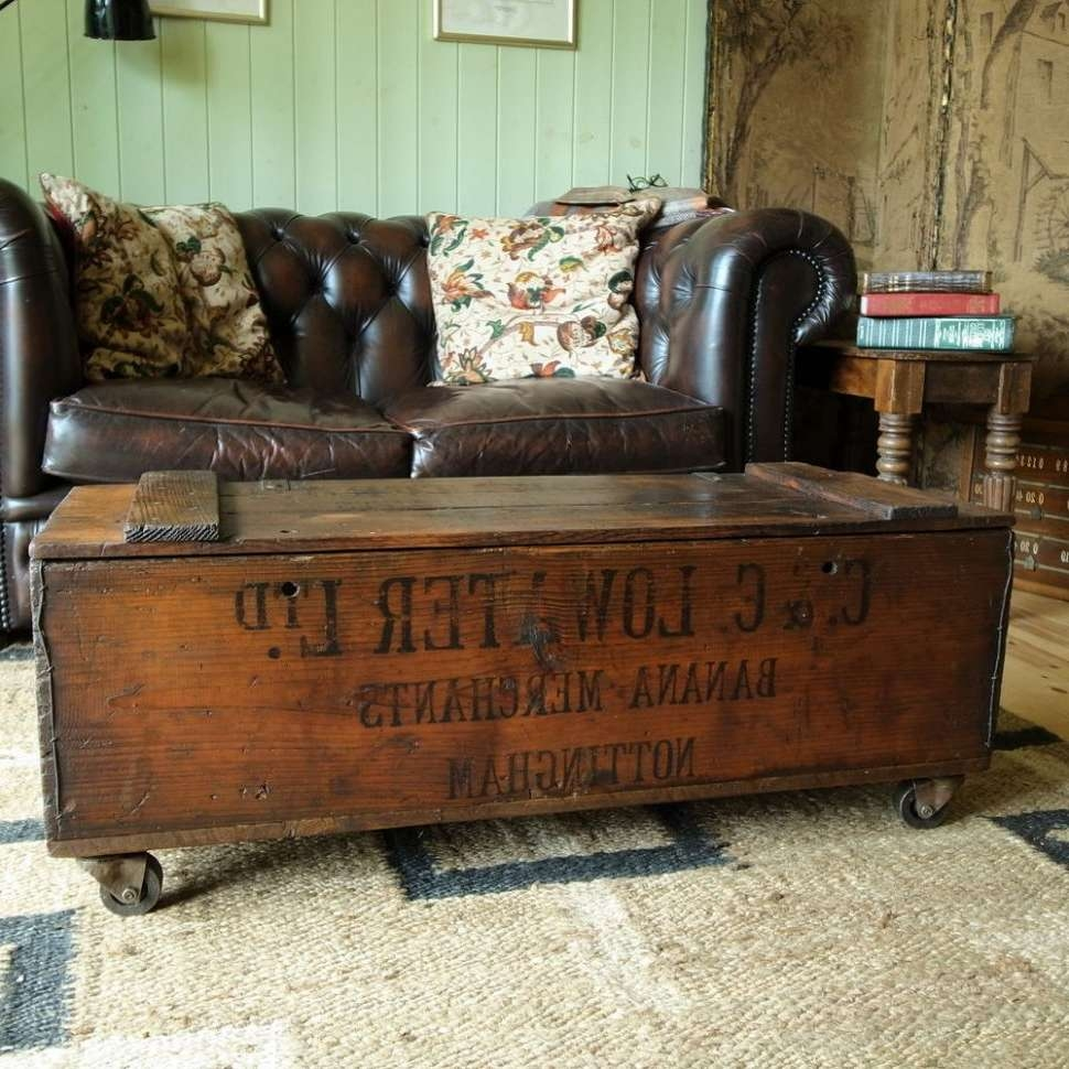 Well Liked Elegant Rustic Coffee Tables Within Coffee Tables : Storage Trunk With Wheels Vintage Coffee Table (View 20 of 20)