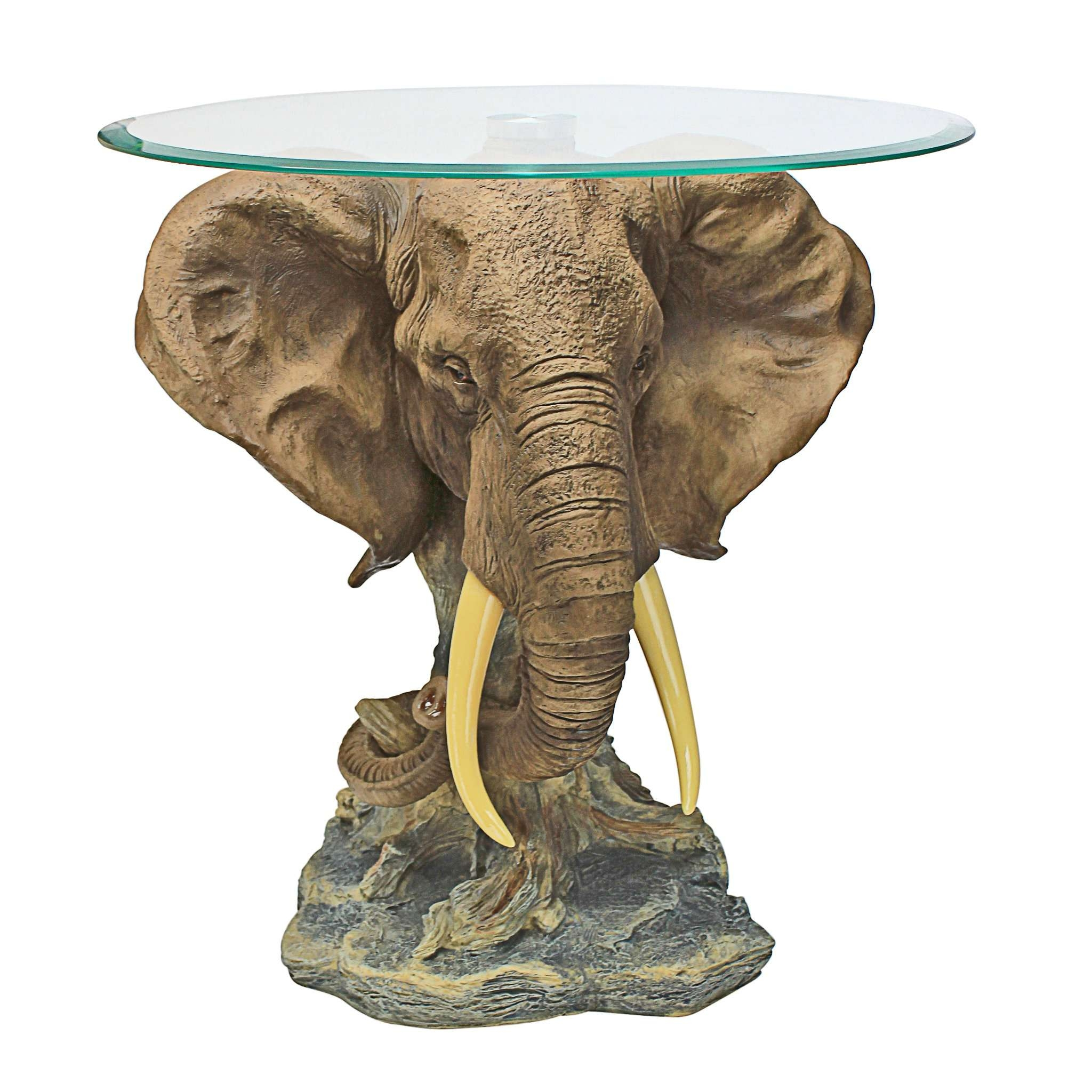Well Liked Elephant Coffee Tables With Glass Top In Glass : Brass Elephant Base Coffee Table Tables John Salibello (View 19 of 20)