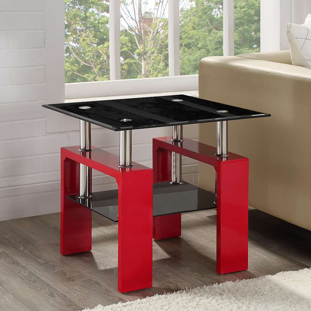 Well Liked Elise Coffee Tables With Red Glass Coffee Table (View 2 of 20)