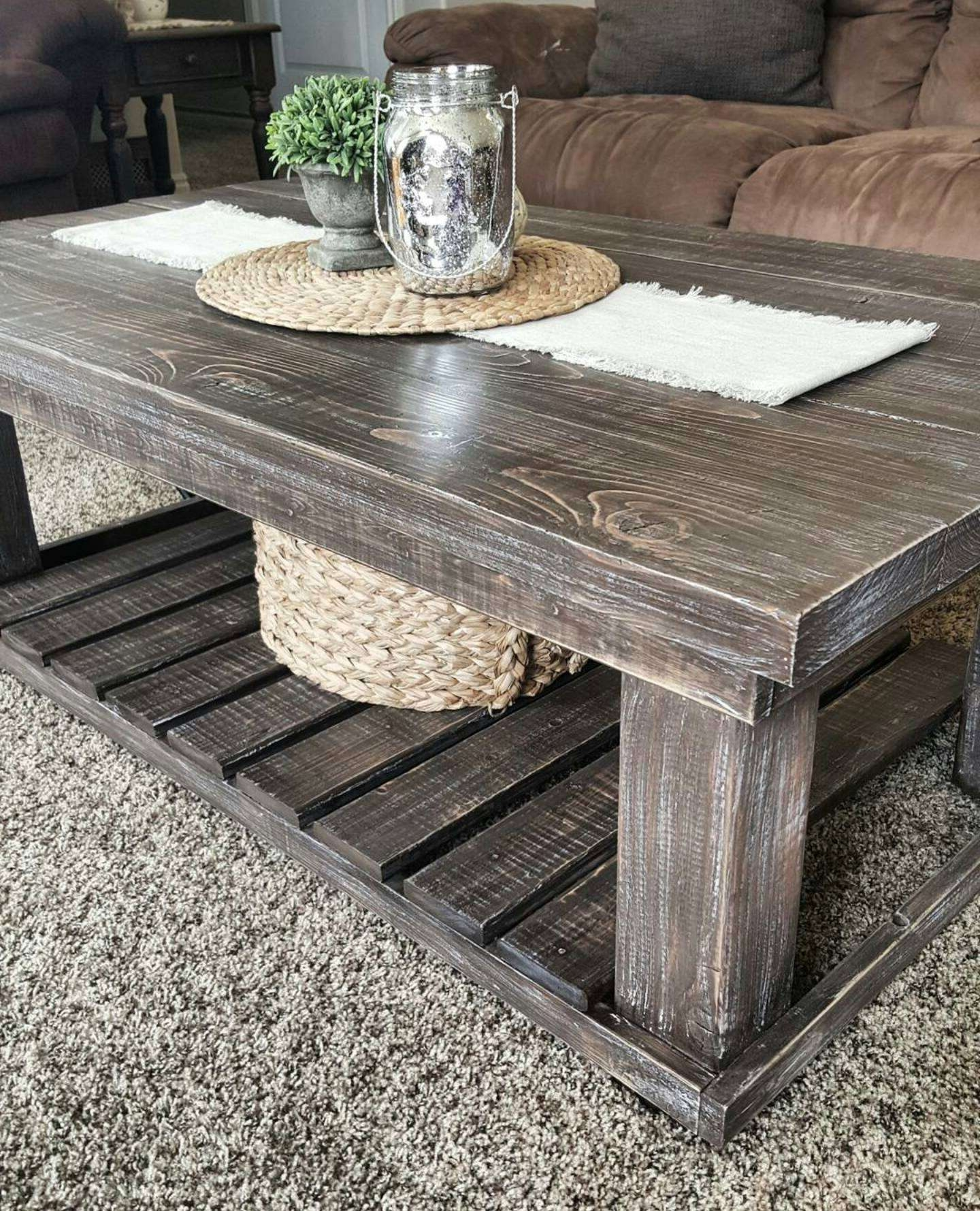 Well Liked Farmhouse Coffee Tables Pertaining To Coffee Table : Awesome Round Industrial Coffee Table Rustic Coffee (View 5 of 20)