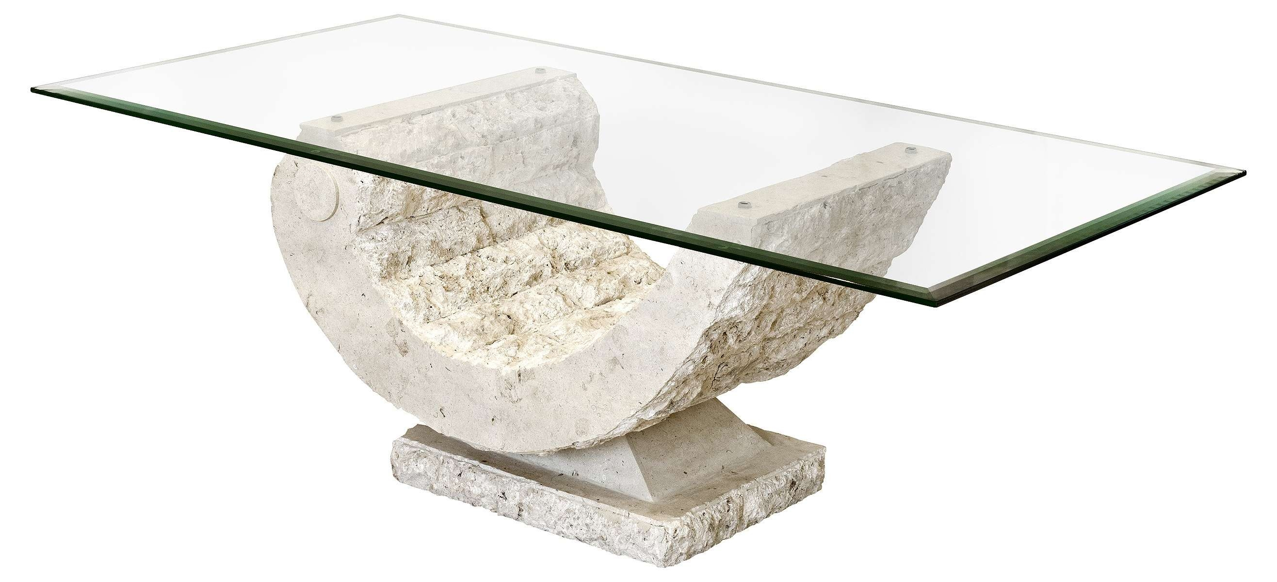 Well Liked Glass And Stone Coffee Table Pertaining To Wonderful Marble Top