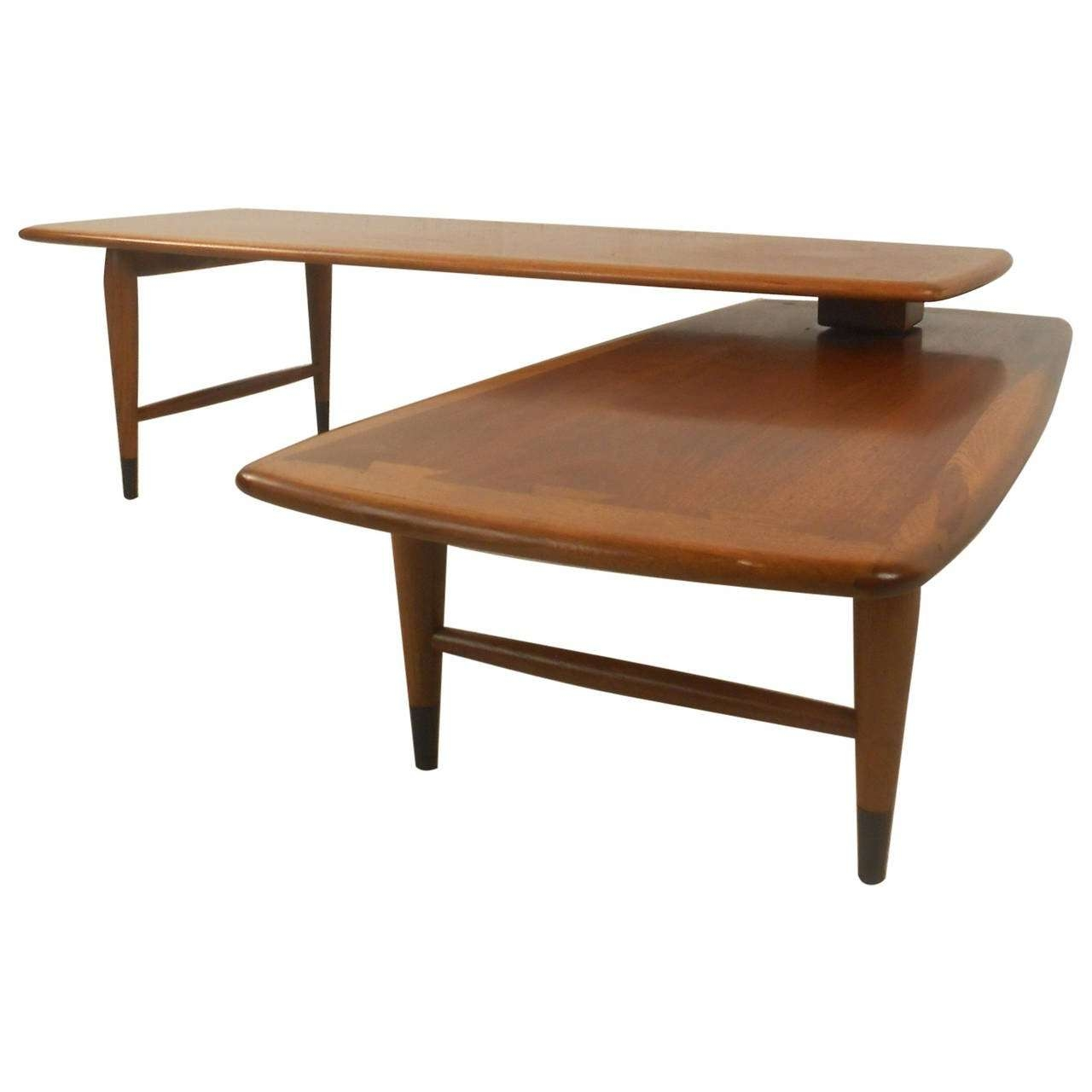 Well Liked L Shaped Coffee Tables Inside Mid Century Modern Switchblade Coffee Tablelane For Sale At (View 8 of 20)