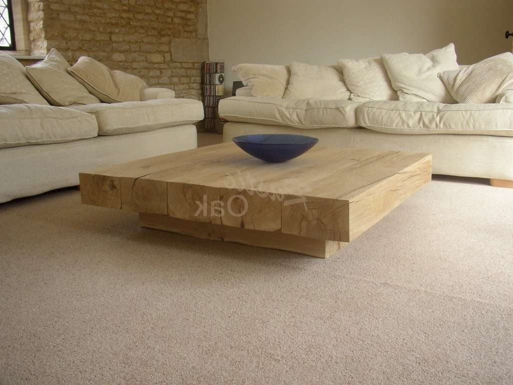 Well Liked Large Low Oak Coffee Tables With Enthralling Solid Wood Coffee Table Design Ideas Missionrepurposed (View 7 of 20)