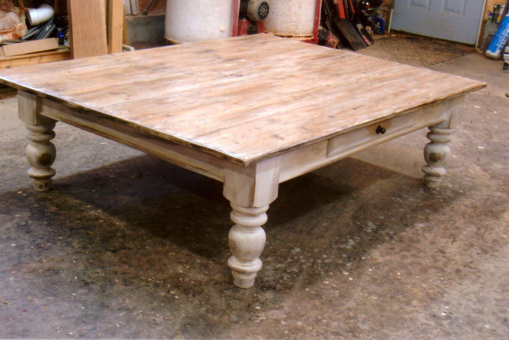 Well Liked Large Wood Coffee Tables With Coffee Table : Fabulous Oversized Square Coffee Table Square Wood (View 3 of 20)