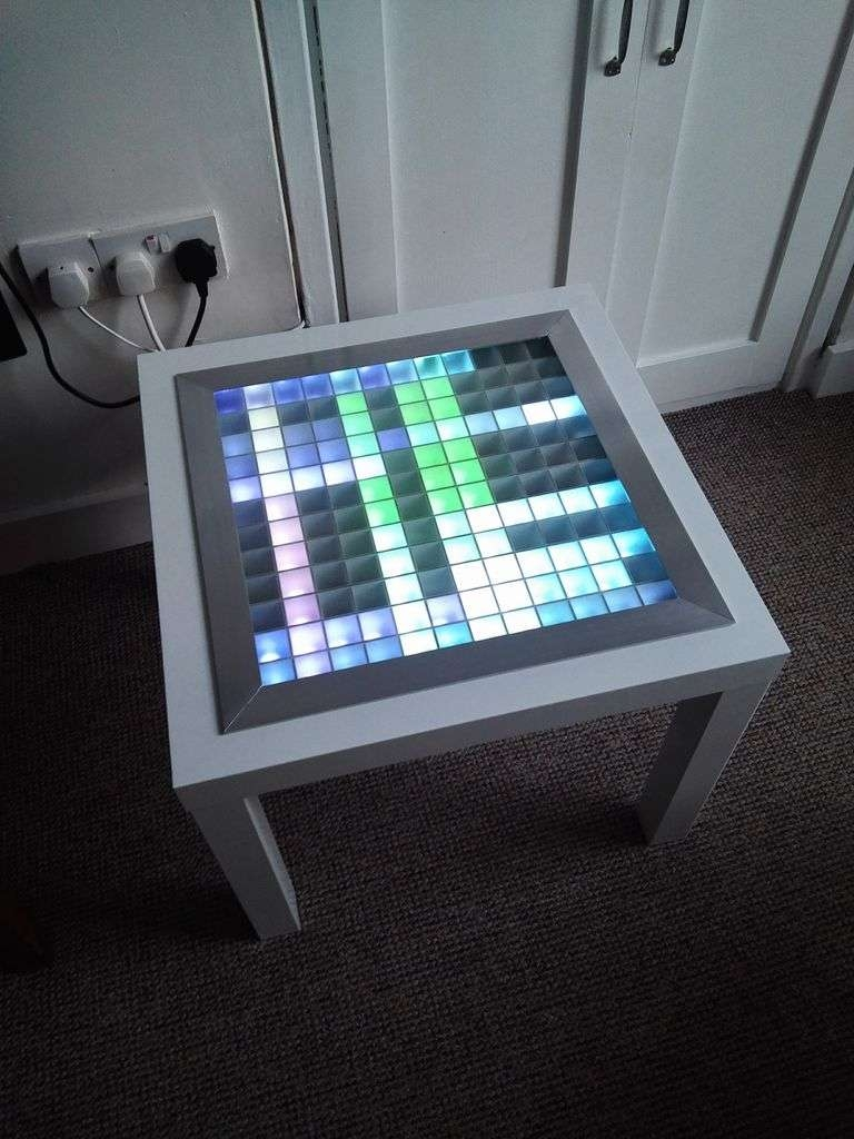 Well Liked Led Coffee Tables Regarding Bluetooth Controlled Arduino Led Coffee Table: 10 Steps (With (View 18 of 20)