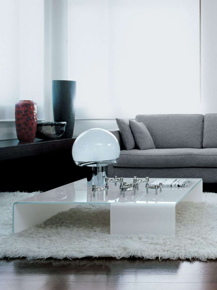 Well Liked Low Glass Coffee Tables For Concrete : 30 Glass Coffee Tables That Bring Transparency To Your (View 14 of 20)