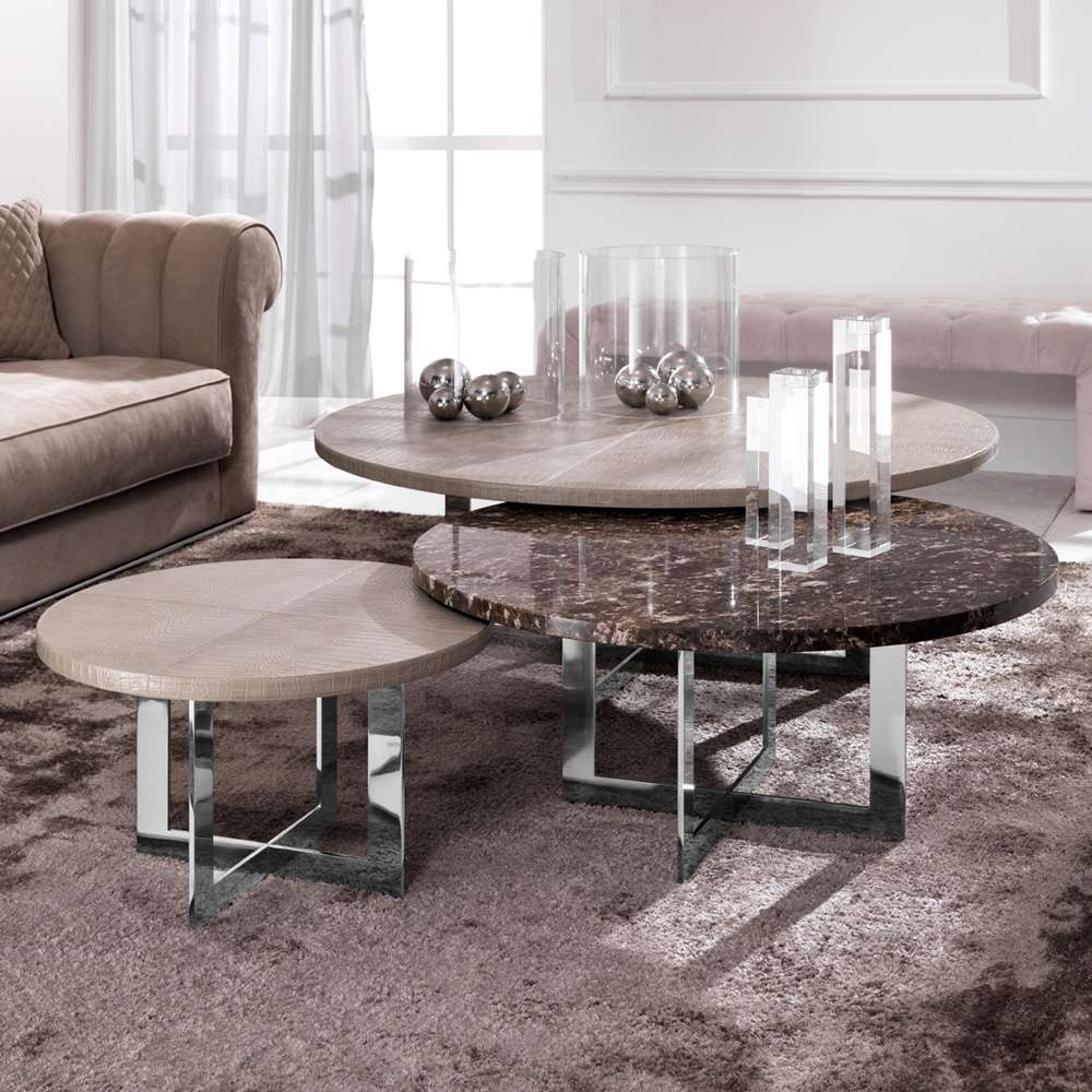 Well Liked Luxury Coffee Tables Pertaining To Luxury Nest Of Round Coffee Tables (View 6 of 20)