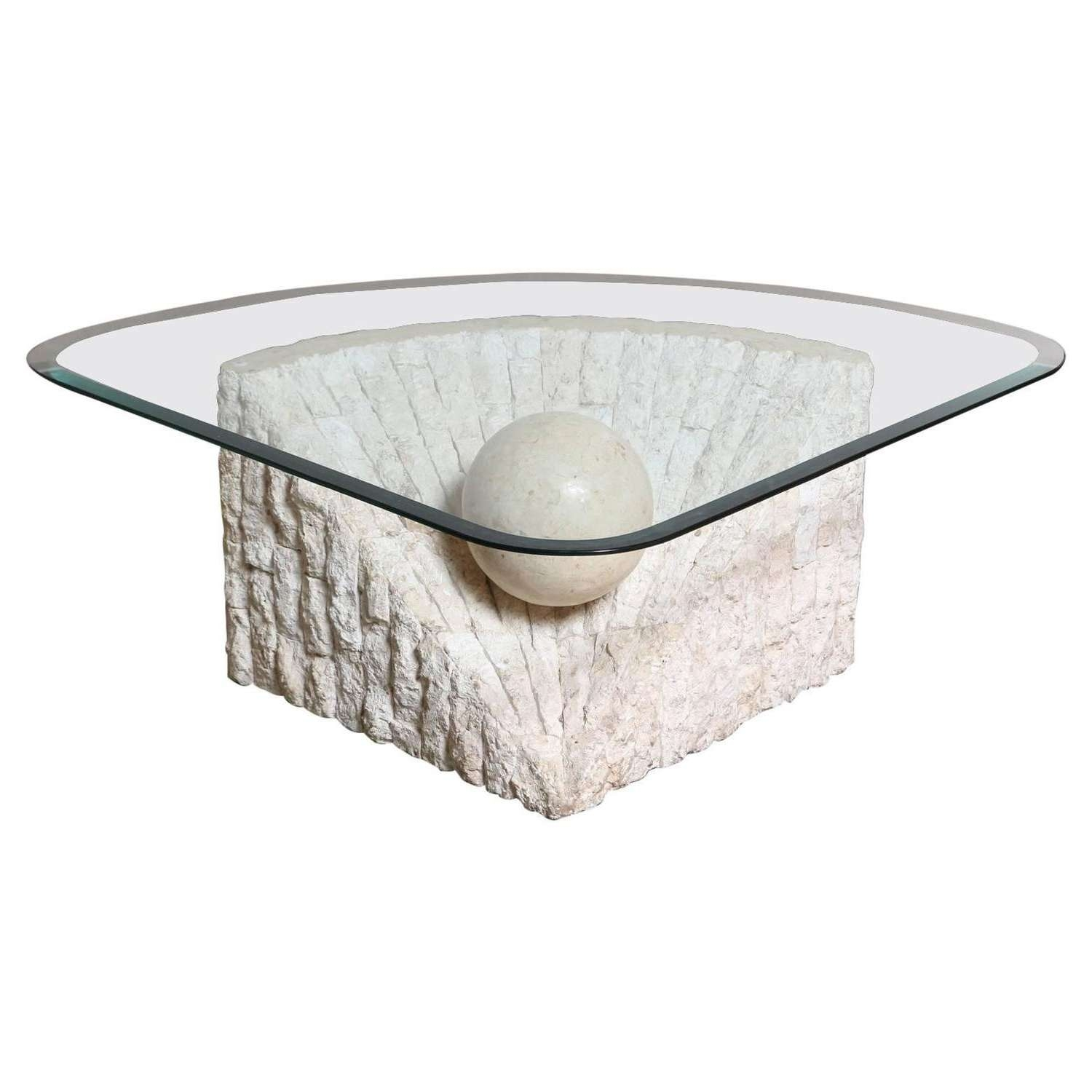 Well Liked Marble And Glass Coffee Table Intended For Marble Glass Coffee Table Fresh Triangular Marble And Travertine (View 18 of 20)