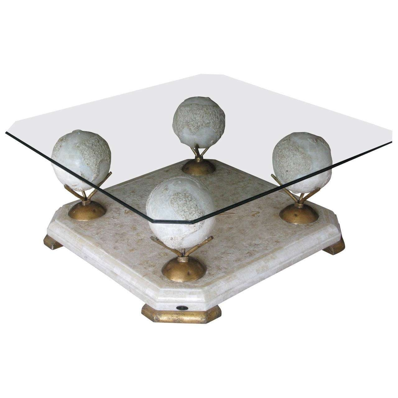 Well Liked Marble And Glass Coffee Table Within 1960S Marble And Glass Coffee Tablefournier, Paris For Sale At (View 19 of 20)