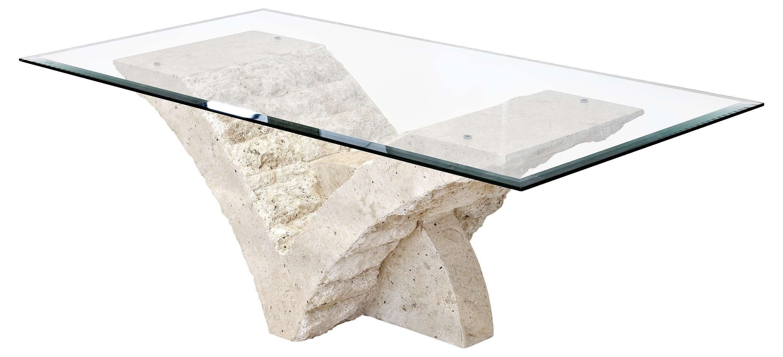 Well Liked Marble Base Glass Top Coffee Table For Fab And Charming Rectangular Glass Top With White Stone Coffee (View 8 of 20)