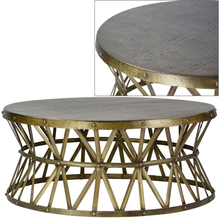Well Liked Metal Round Coffee Tables Intended For Coffee Tables : Appealing Metal Coffee Tables Inspirational Round (View 7 of 20)