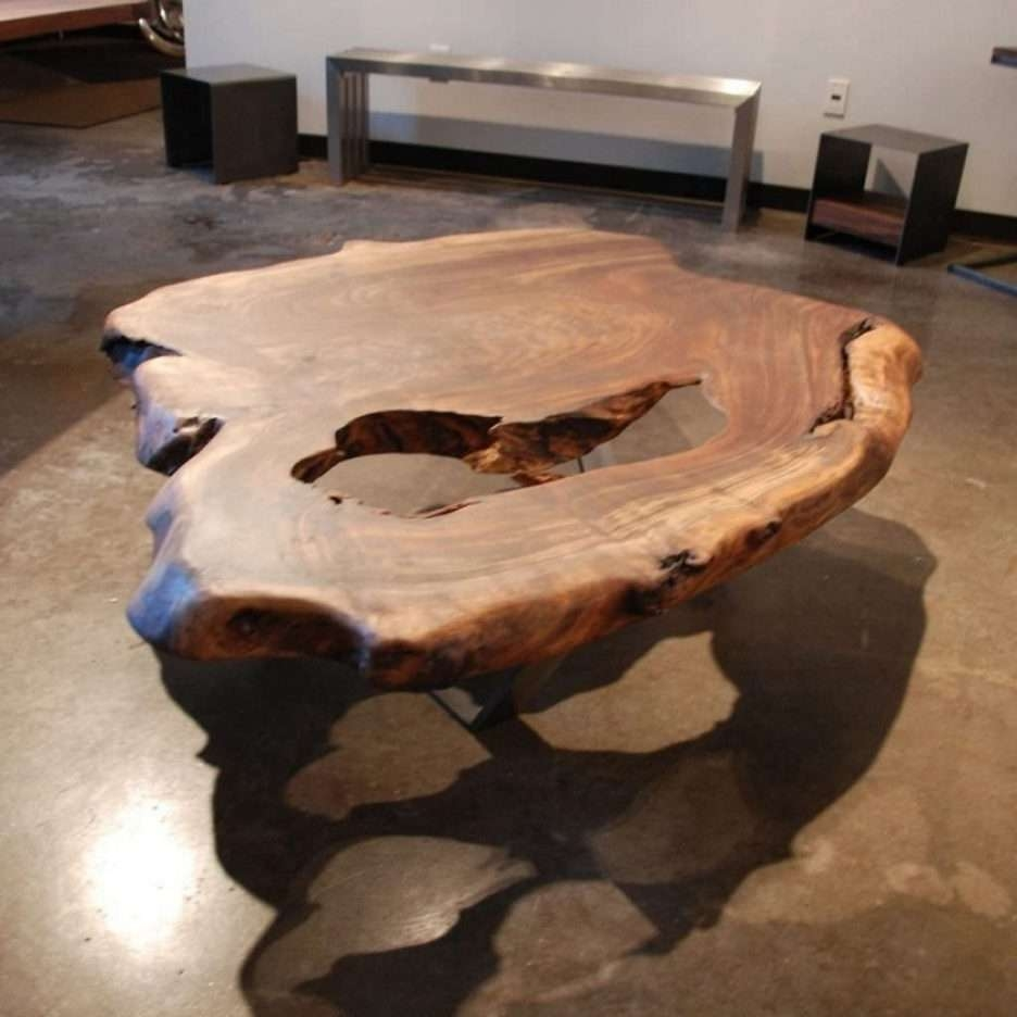 Well Liked Natural Wood Coffee Tables In Natural Wood Coffee Table Complete With The Hole Shaping Still (View 12 of 20)