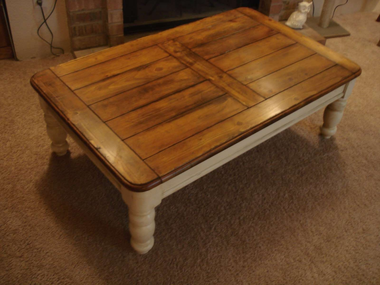 Well Liked Oak And Cream Coffee Tables Throughout Distressed Coffee Table Square White Distressed Coffee Table (View 4 of 20)