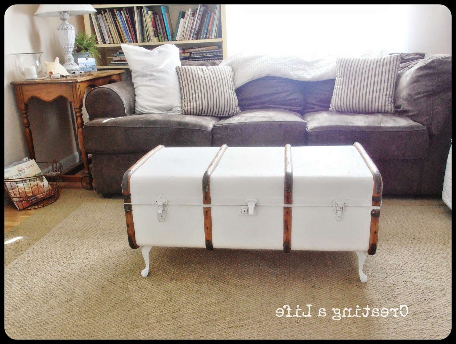 Well Liked Old Trunks As Coffee Tables Within Creating A Life: Vintage Trunk Coffee Table (View 13 of 20)