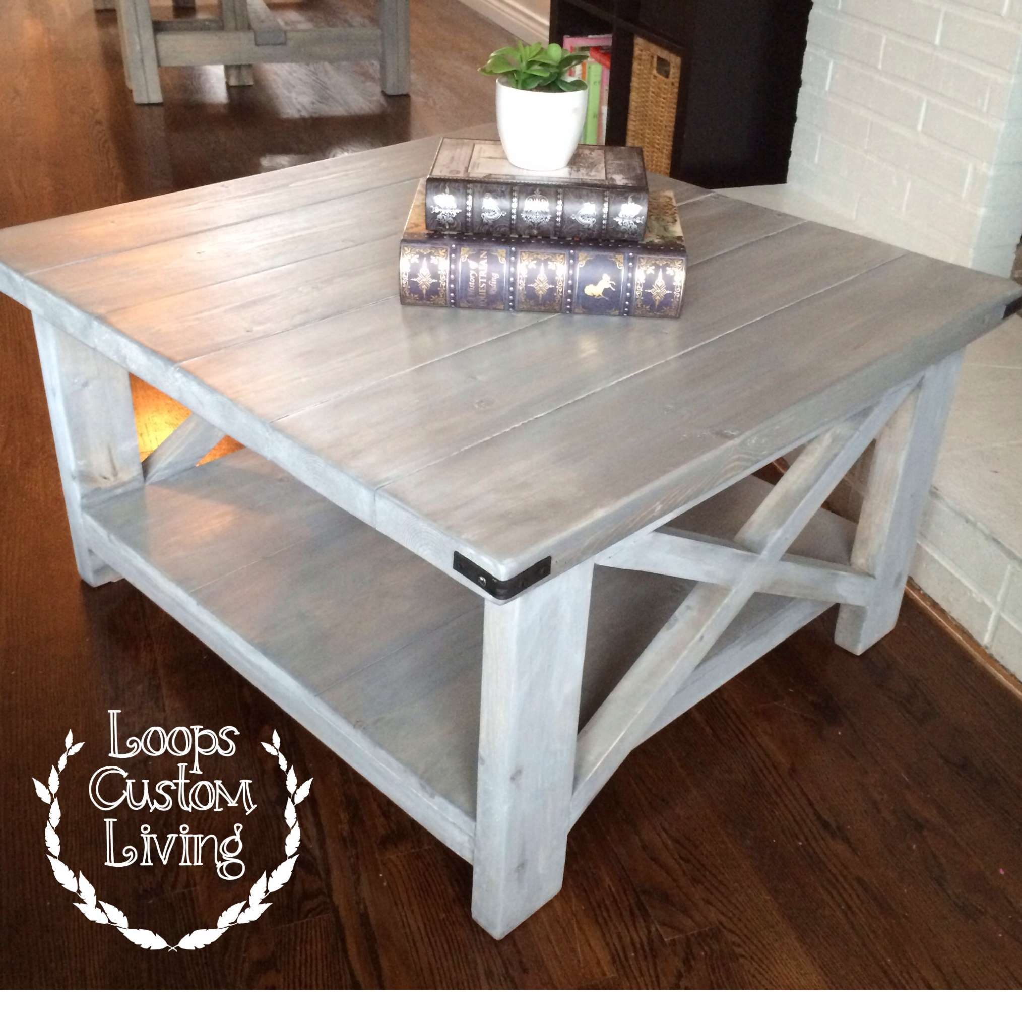 Well Liked Oversized Square Coffee Tables Pertaining To Home Design : Coffee Table Rustic Tables Made Of Wood Furniture (View 9 of 20)