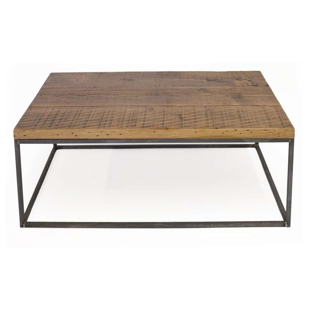 Well Liked Reclaimed Wood Coffee Tables Within Coffee Tables : Distressed Coffee Table Industrial Reclaimed Wood (View 13 of 20)
