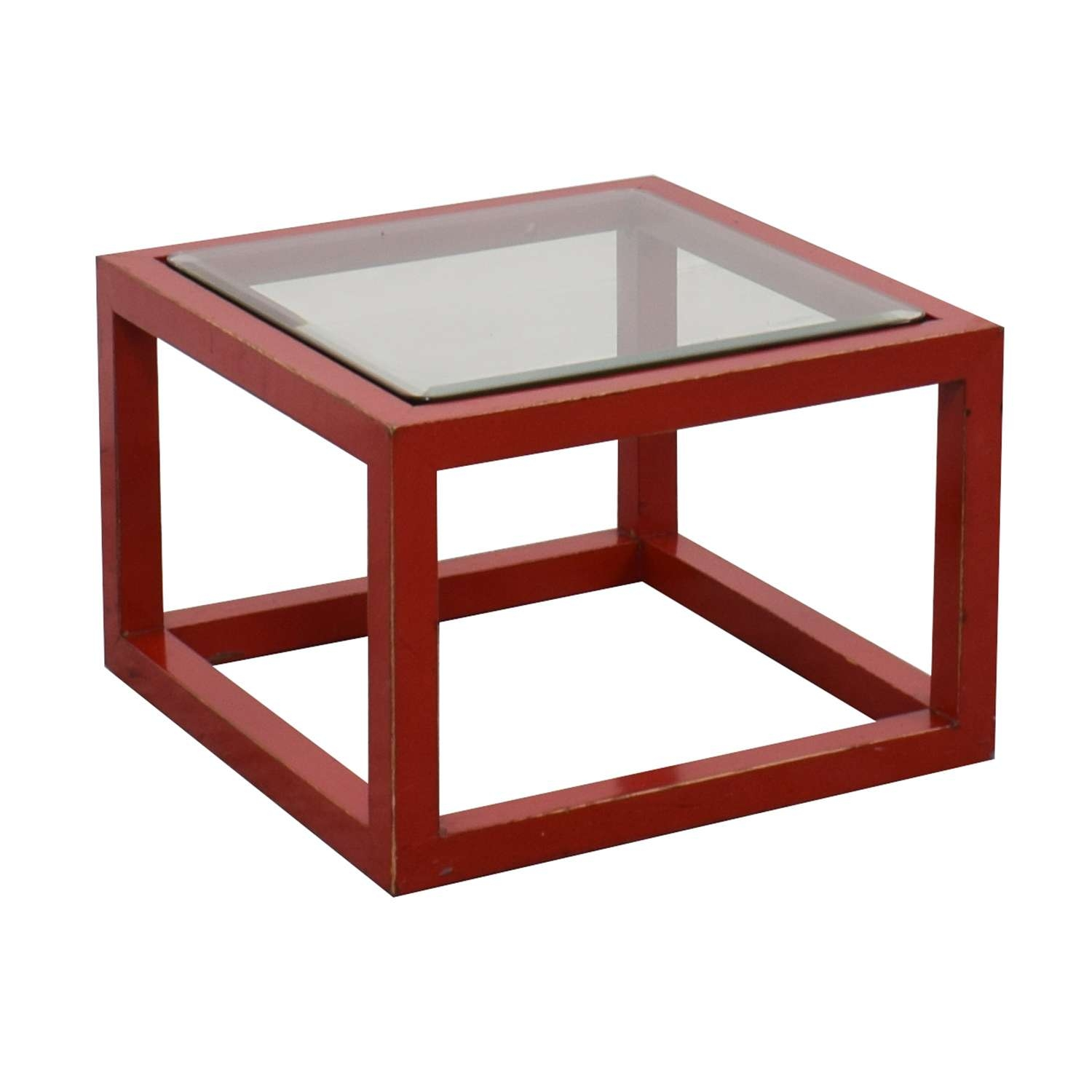 [%well Liked Red Coffee Tables Intended For 79% Off – Crate & Barrel Crate & Barrel Modern Glass Top Red|79% Off – Crate & Barrel Crate & Barrel Modern Glass Top Red Within Most Recently Released Red Coffee Tables%] (View 20 of 20)