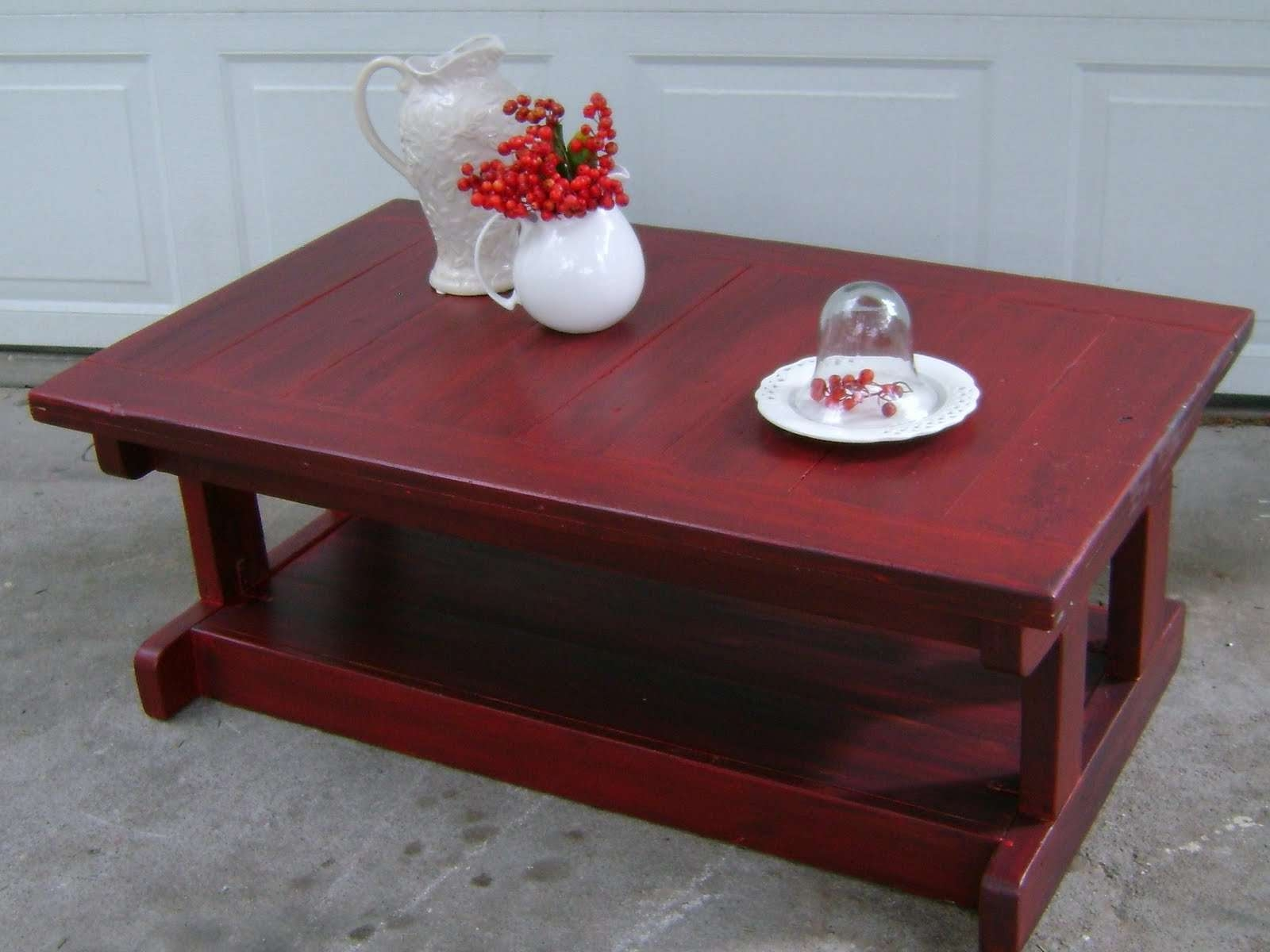 Well Liked Red Coffee Tables Within Red Coffee Tables With Glass Material And Trunk As Storage (View 20 of 20)
