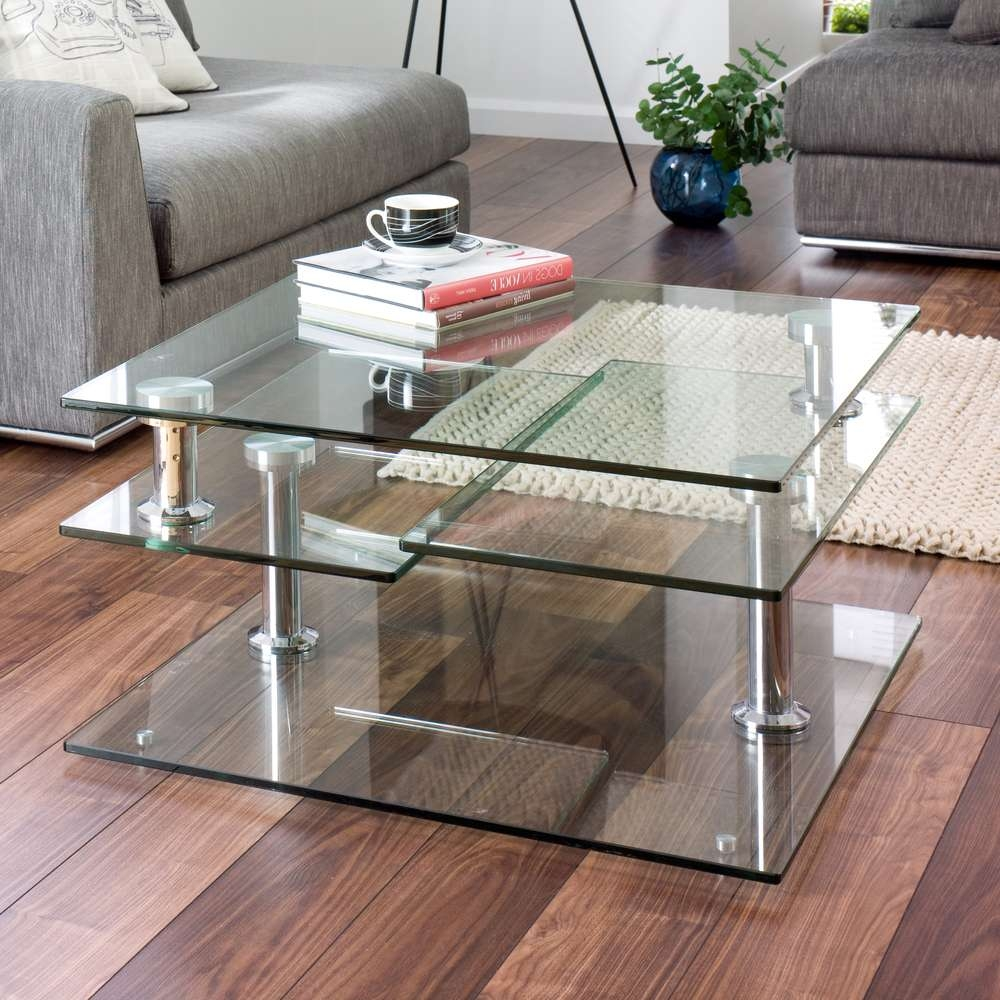 Well Liked Revolving Glass Coffee Tables With Regard To Amazing Rotating Glass Coffee Table In Home Design Planning With (View 2 of 20)