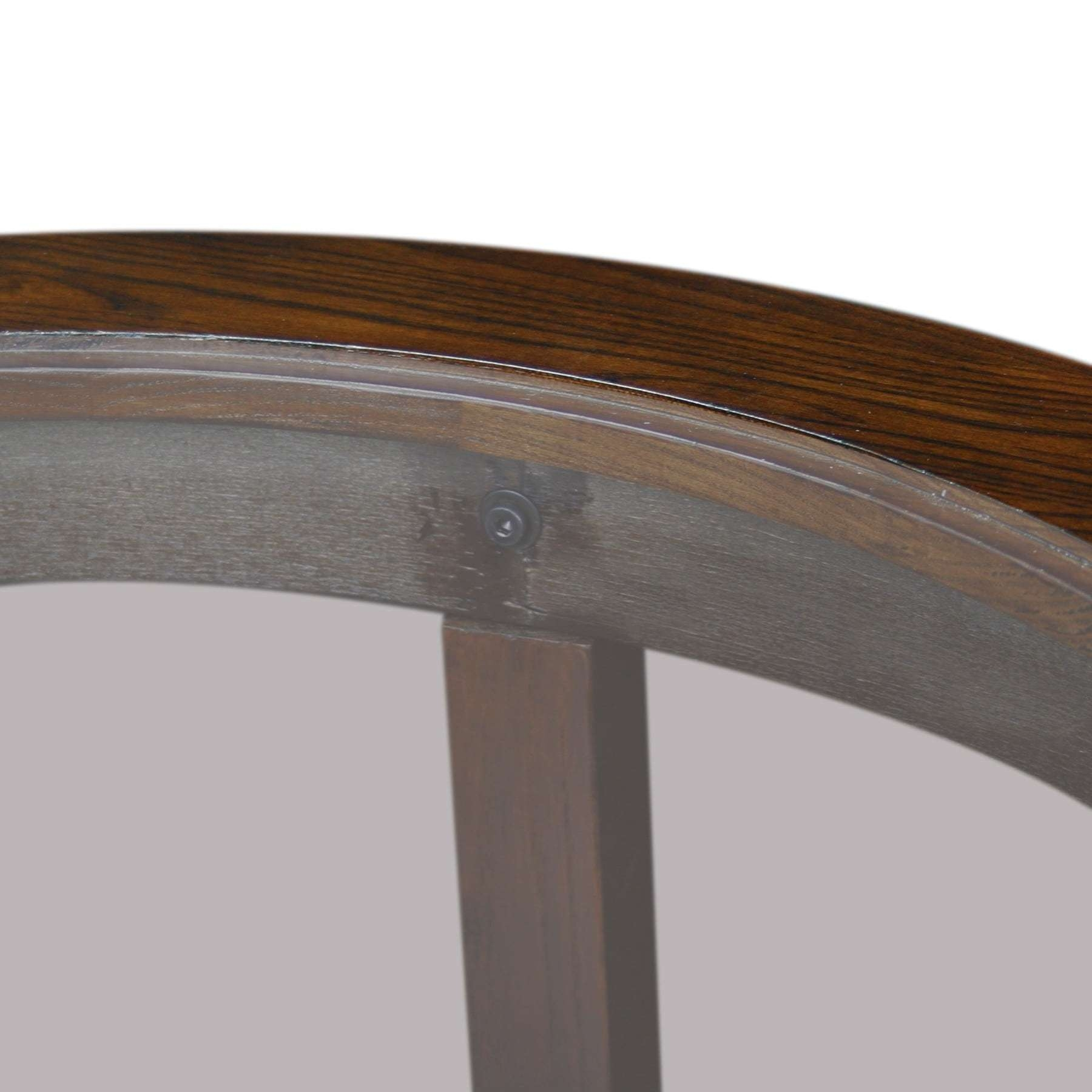 Well Liked Solid Round Coffee Tables With Regard To Solid Oak Chocolate Bronze Round Coffee Table – Free Shipping (View 20 of 20)