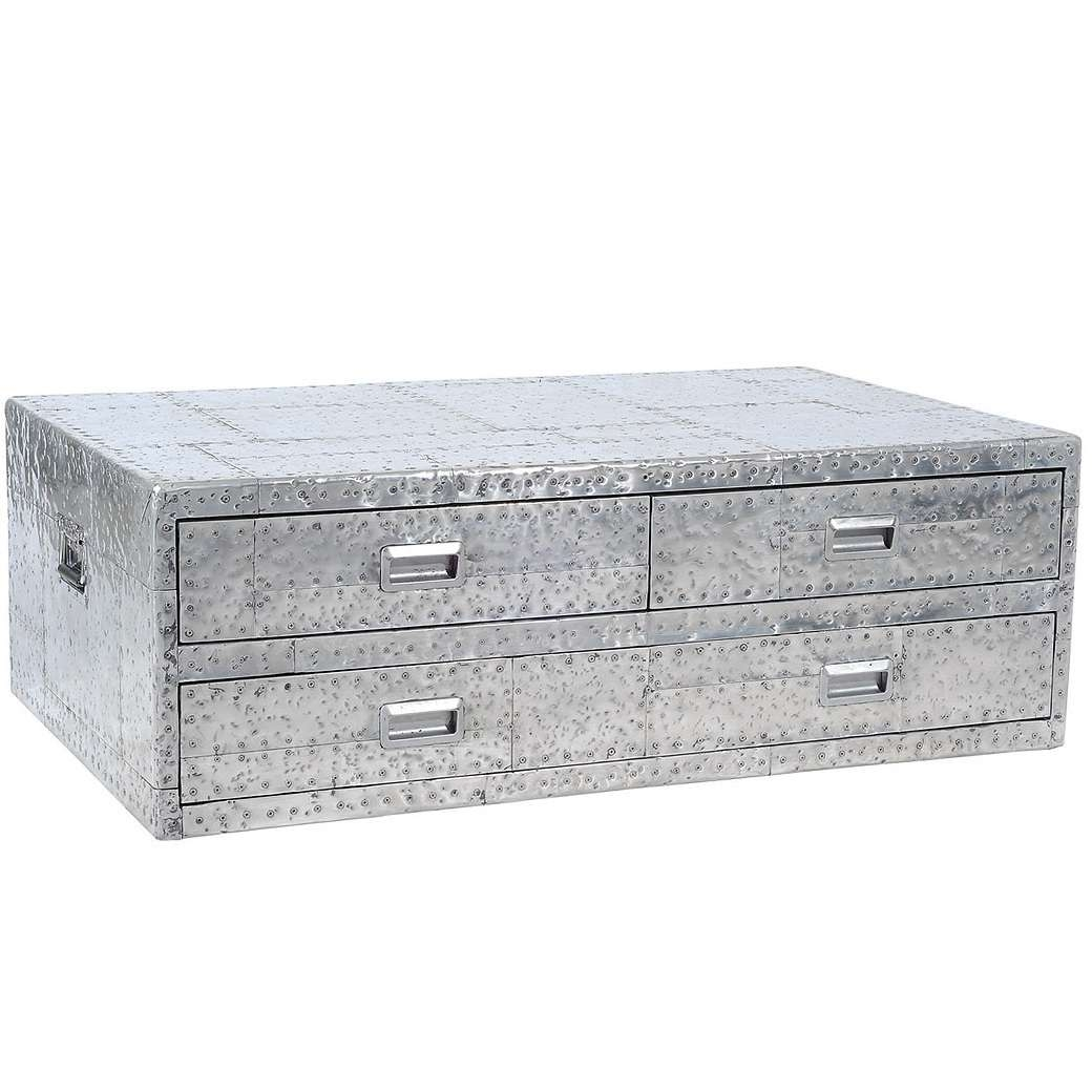 Well Liked Steamer Trunk Stainless Steel Coffee Tables In Cute Metal Steamer Trunk Coffee Table In Fresh Home Interior (View 18 of 20)