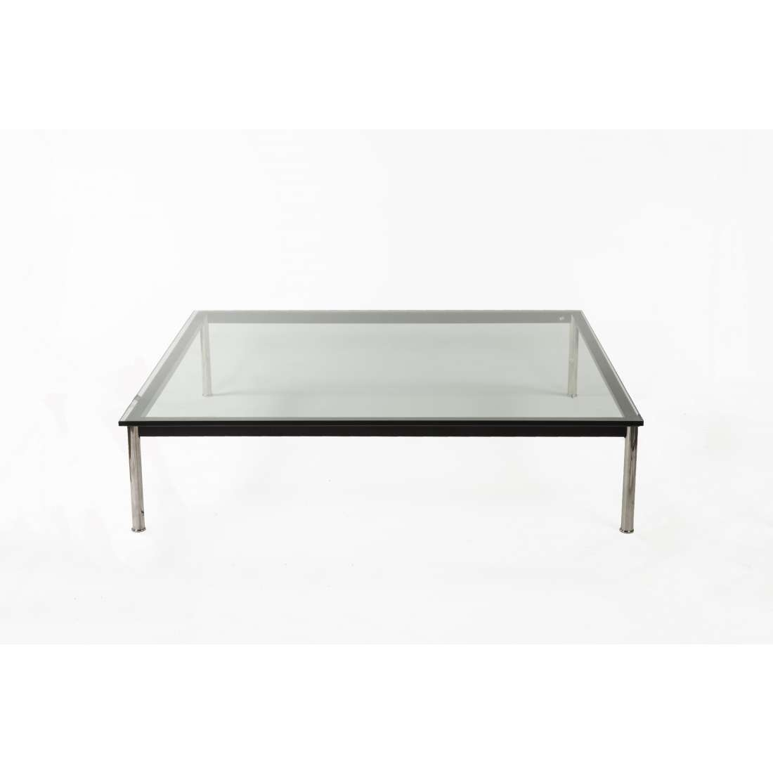 Well Liked Very Low Coffee Tables Regarding Mid Century Modern Reproduction Lc10 Square Low Coffee (View 17 of 20)