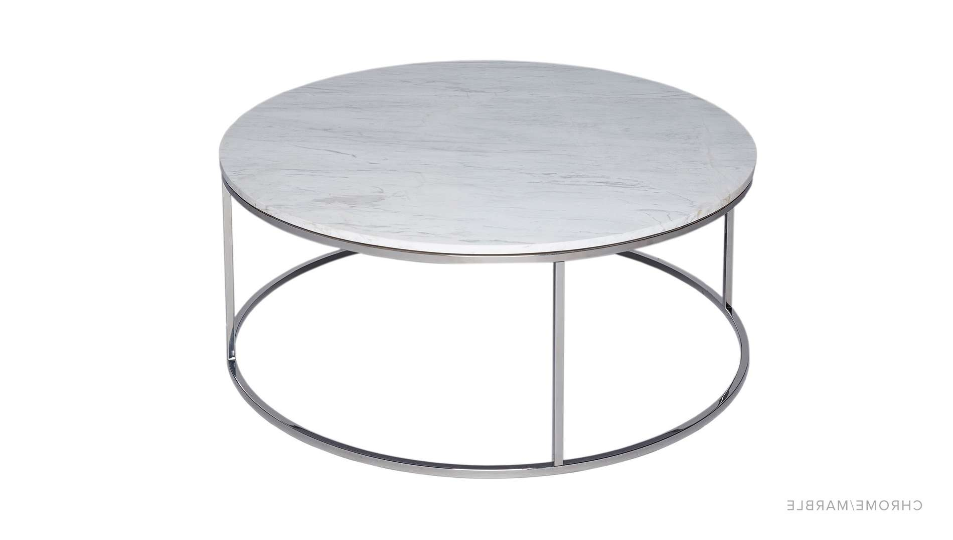 Well Liked White And Chrome Coffee Tables For Coffee Table : Amazing Modern Coffee Table Round Marble Top Coffee (View 19 of 20)