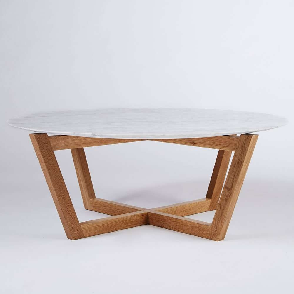 Well Liked White And Oak Coffee Tables In Coffee Tables : Splendid Natural Wood And White Coffee Table Round (View 20 of 20)