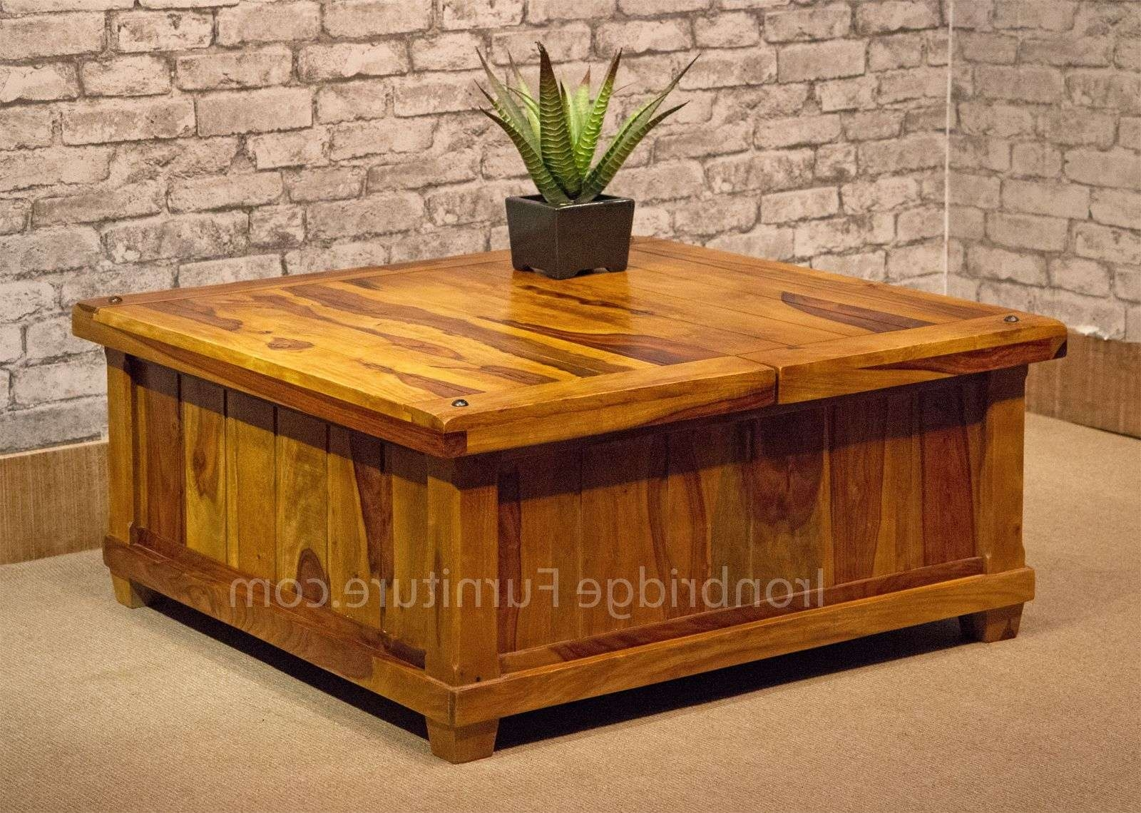 Well Liked Wooden Trunks Coffee Tables With Regard To Coffee Tables : Breathtaking Furniture Surprising Storage Chest (View 19 of 20)