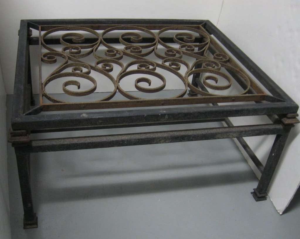 Well Liked Wrought Iron Coffee Tables For Small Wrought Iron Coffee Table : How To Paint Wrought Iron Coffee (View 16 of 20)