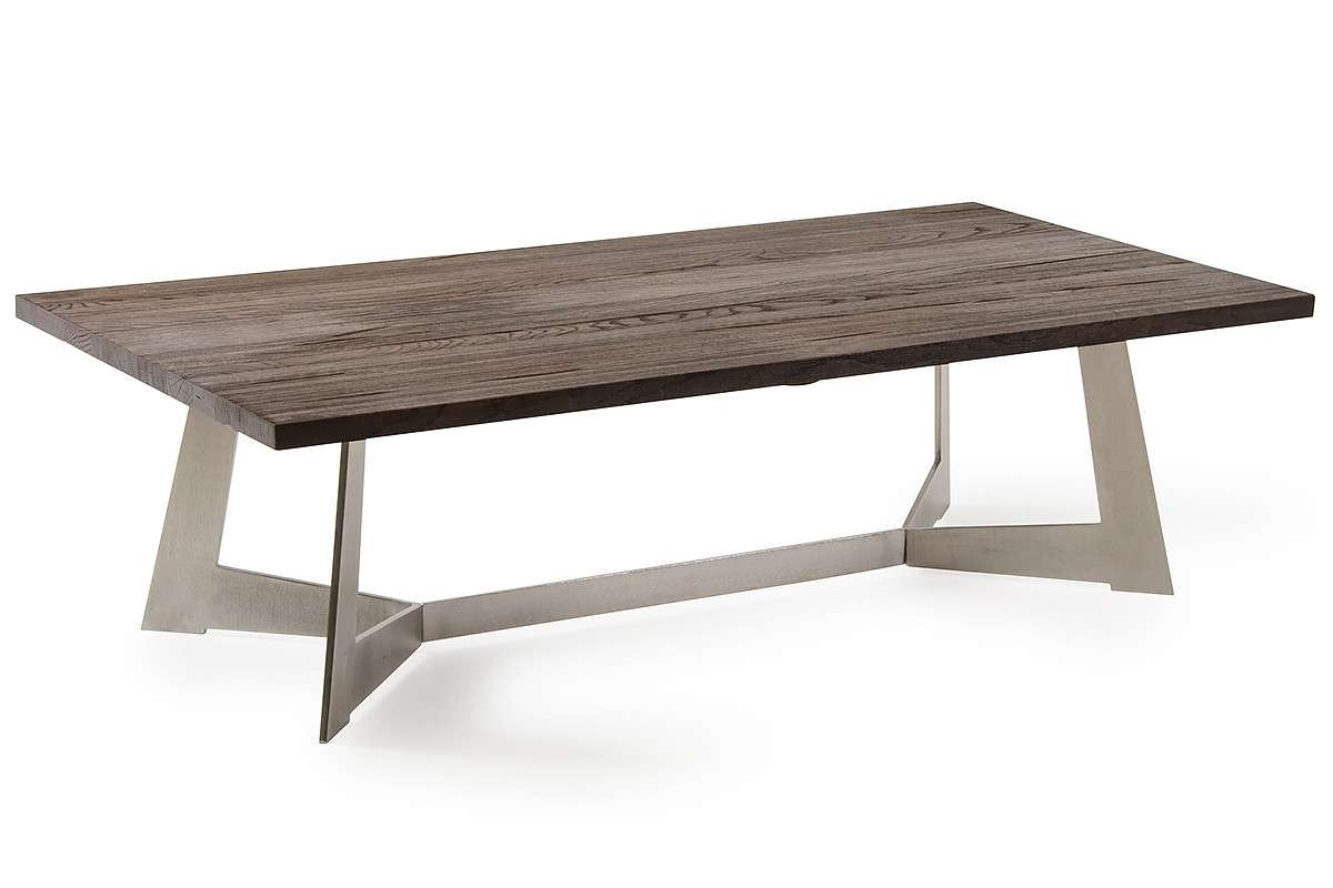 Wharton Modern Dark Aged Oak Coffee Table Within Most Recent Dark Oak Coffee Tables (View 19 of 20)