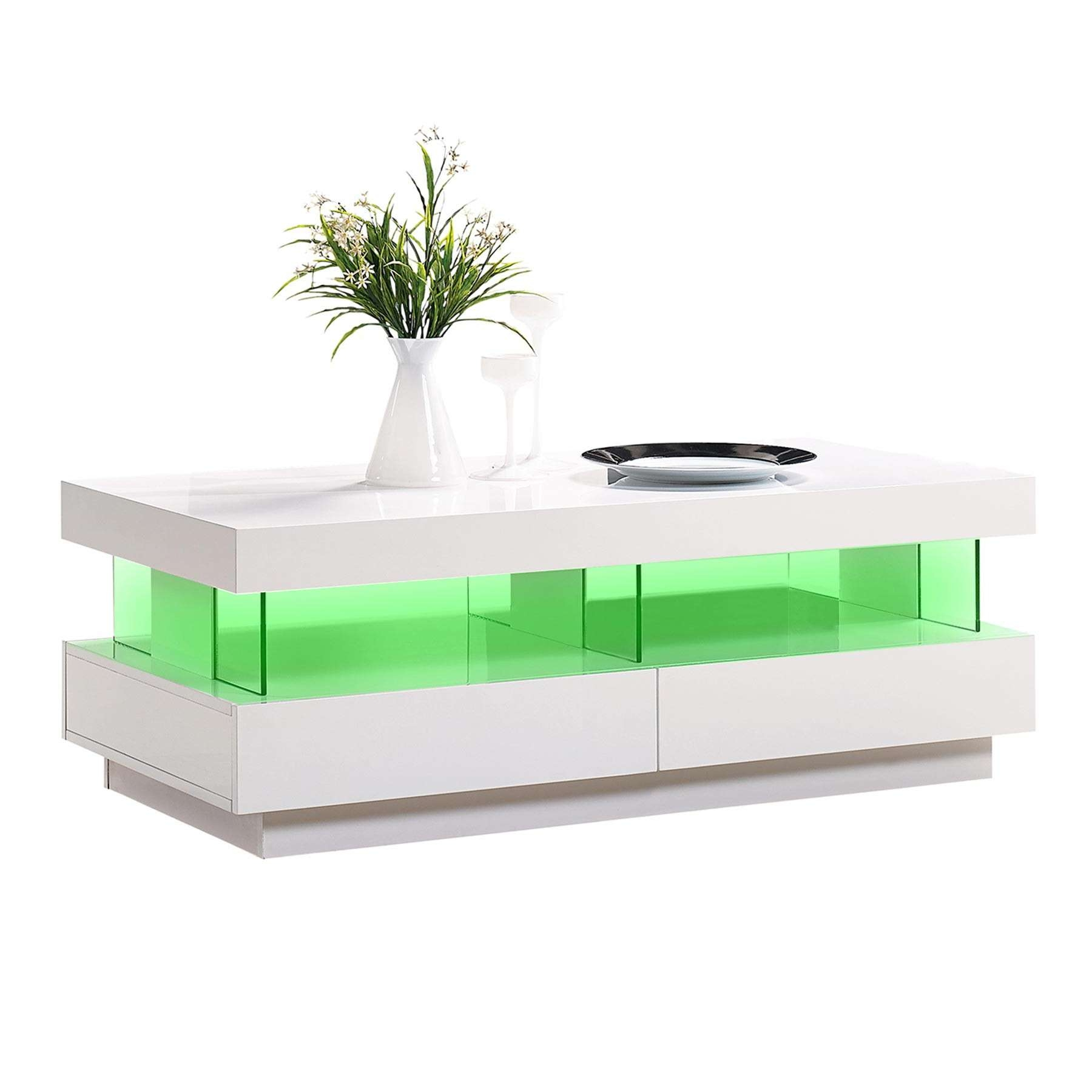 White Gloss Coffee Table Led Light (View 20 of 20)