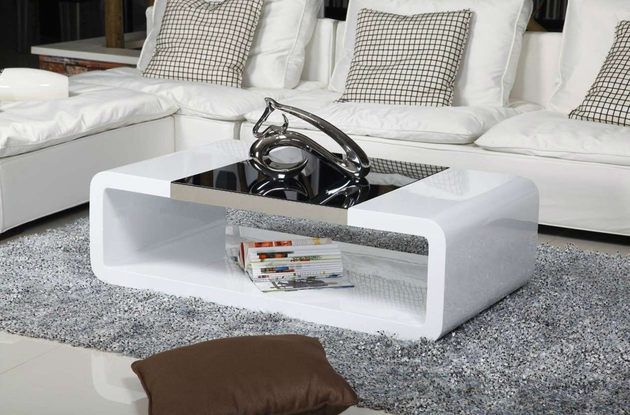 White Gloss Coffee Table Modern Alexis Designer Rectangle High Inside Most Up To Date White Gloss Coffee Tables (View 10 of 20)