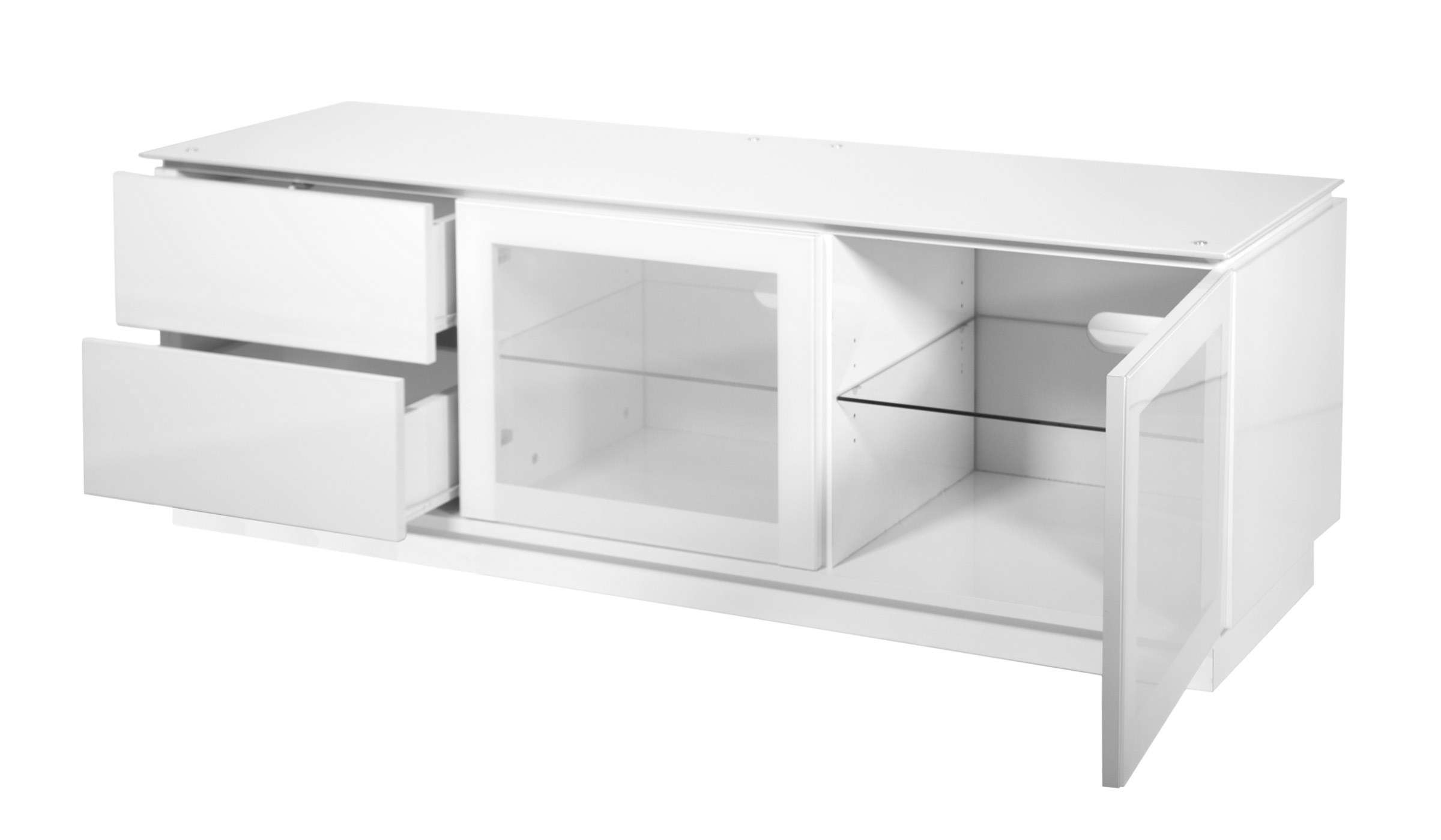 "White Gloss Tv Cabinet Up To 55"" Tv 