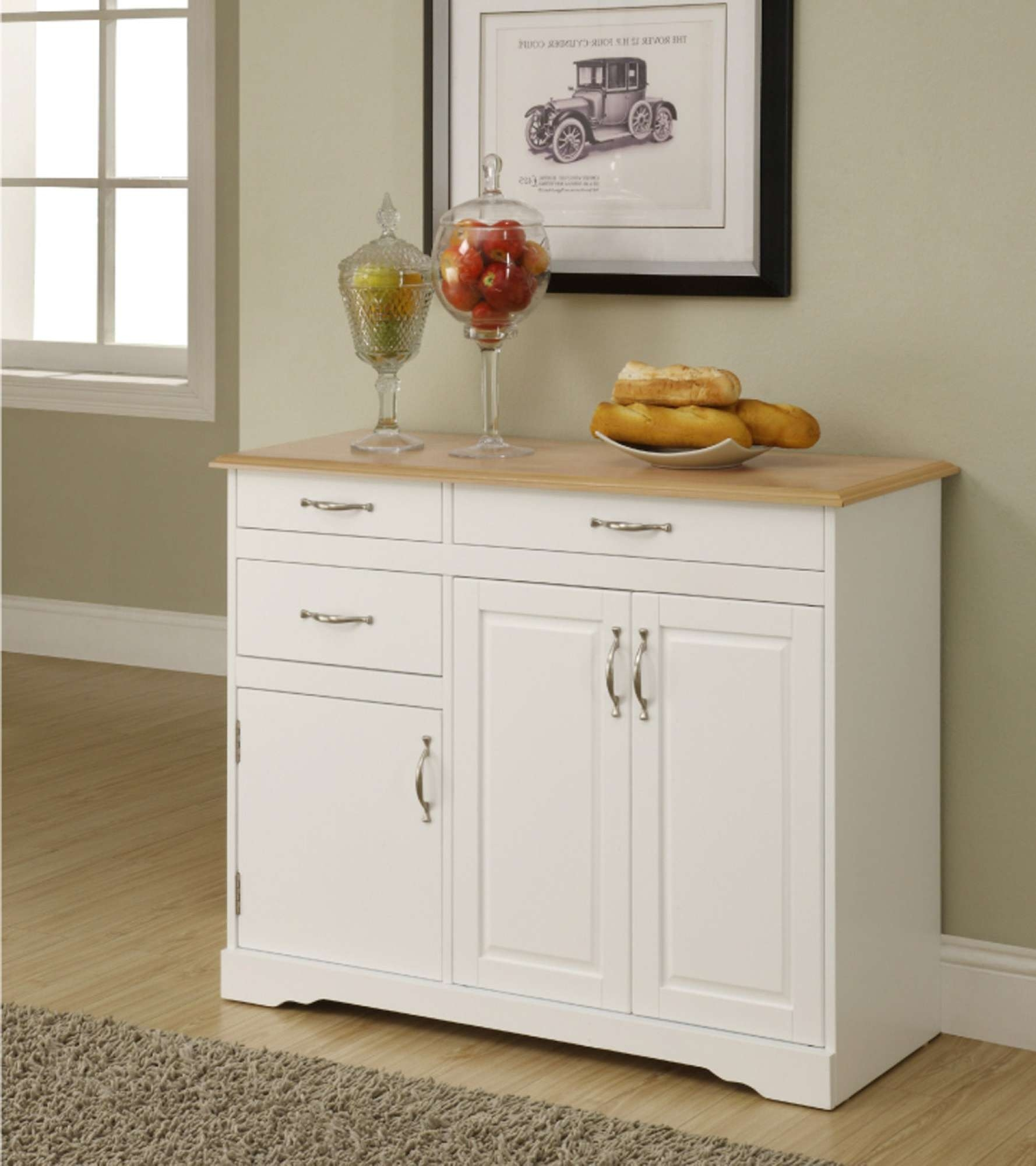 White Kitchen Buffet – Kitchen Design For White Buffet Sideboards (View 20 of 20)