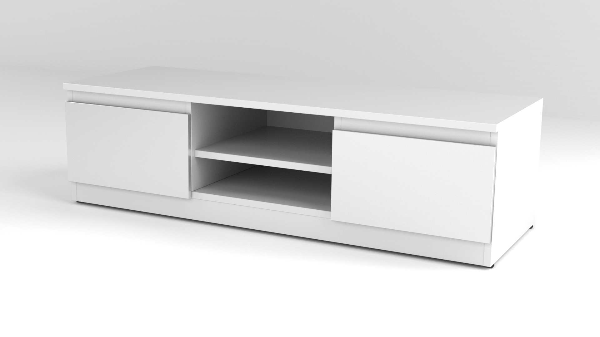 White Matt Modern Tv Cabinet – Code 35 Intended For White Tv Cabinets (View 19 of 20)