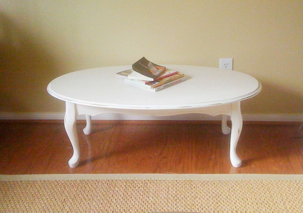 White Oval Coffee Table Tables Modern / Thippo With Regard To Well Liked White Oval Coffee Tables (View 20 of 20)