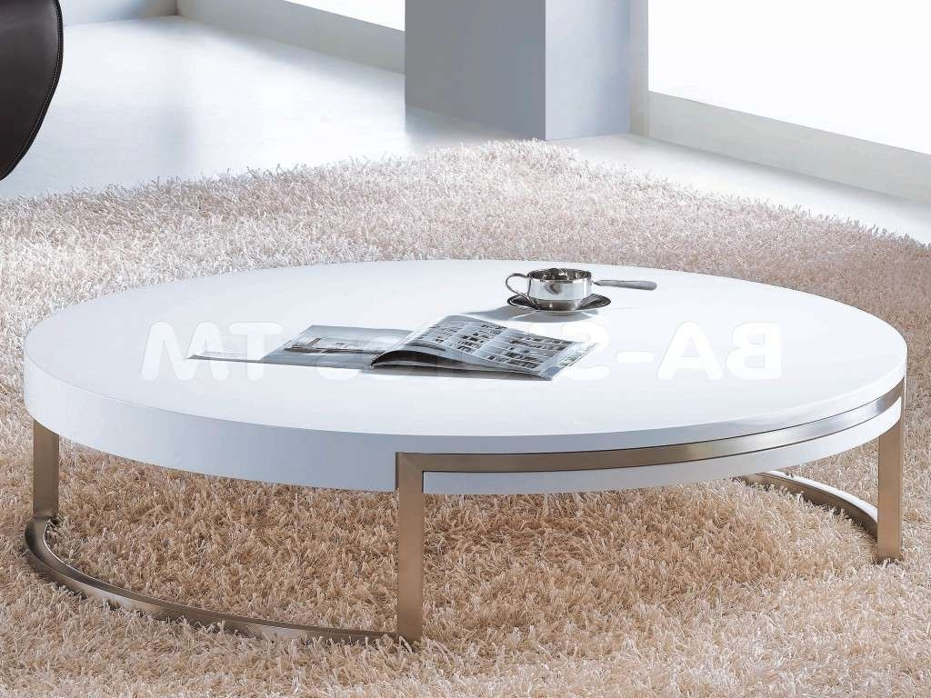 White Round Coffee Table Unique Round High Gloss Coffee Table Regarding Fashionable Gloss Coffee Tables (View 9 of 20)